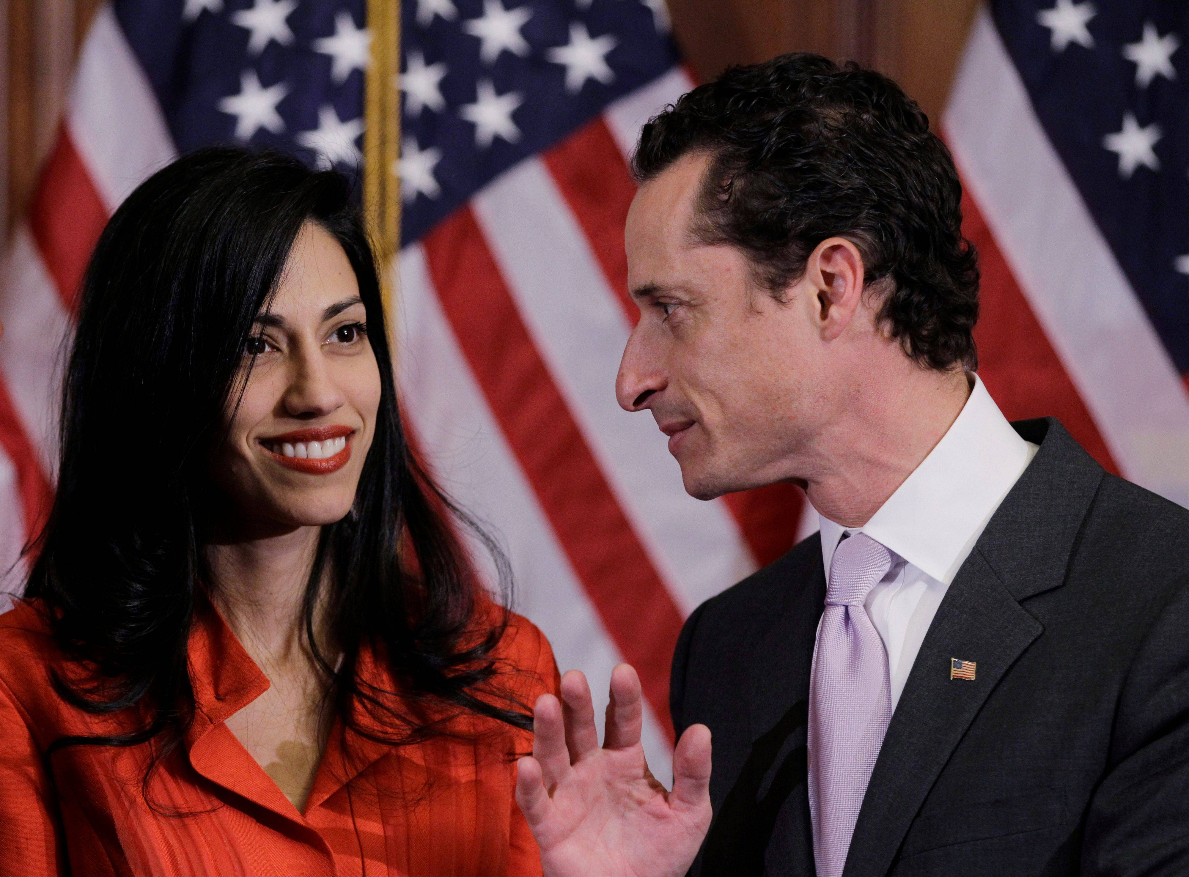 Anthony Weiner and his wife, Huma Abedin. When Abedin's name and face first started appearing in the media six years ago, lots of
