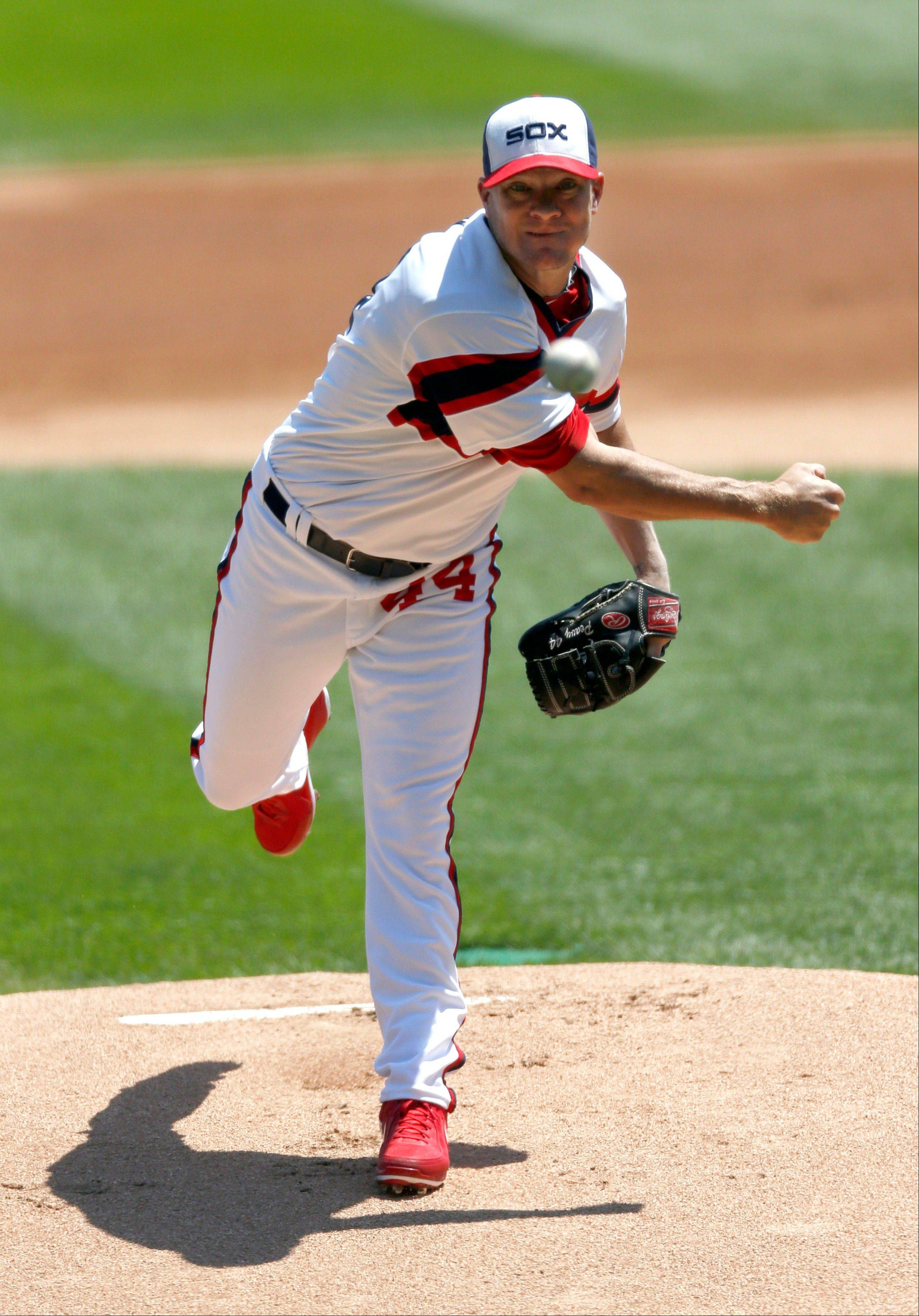Jake Peavy threw 7 innings against Detroit, allowing 4 runs on 4 hits. He improved to 8-4 on the season.