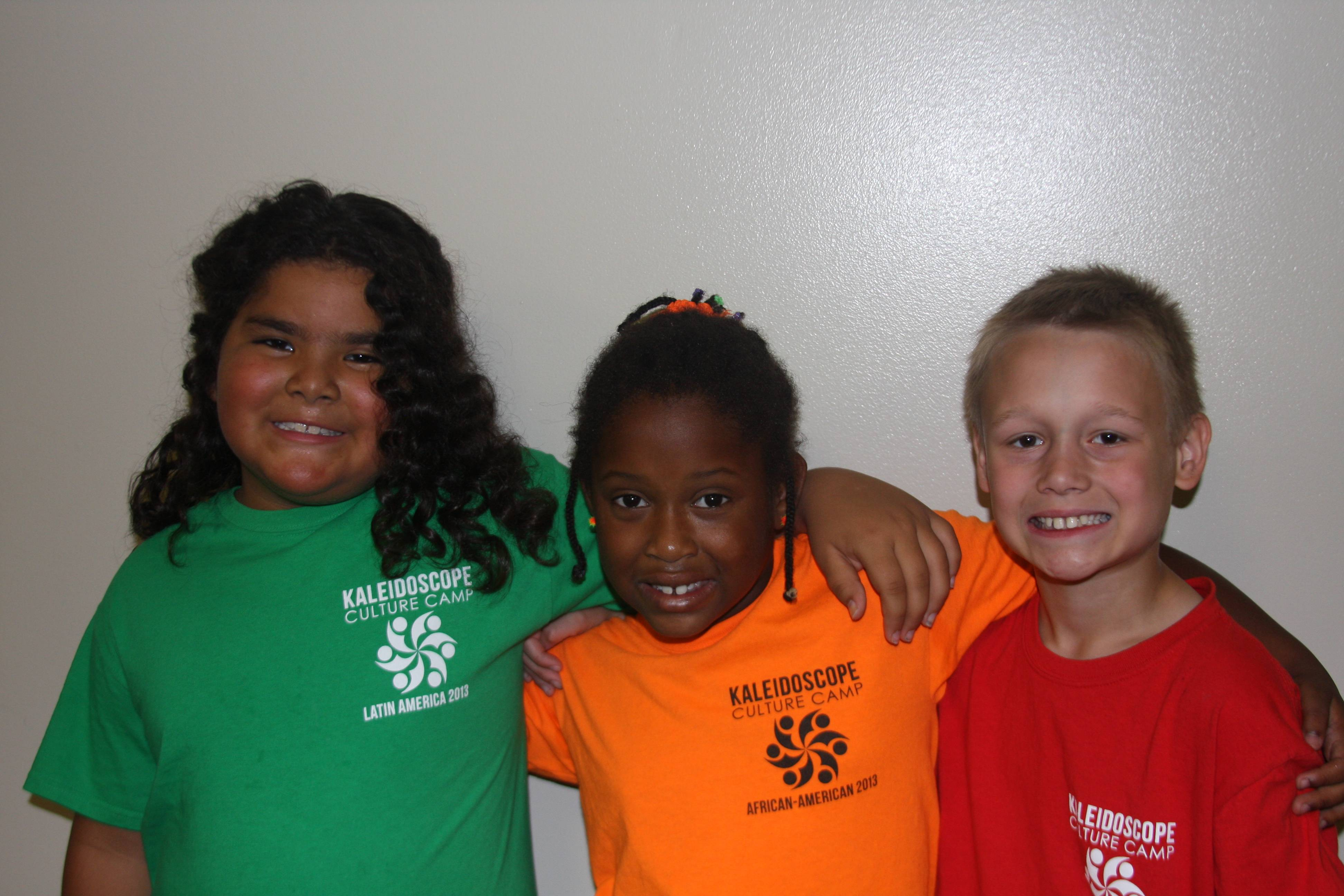 From left, Joanna Hatch, Saniya Herold and Nick Jonynas enjoy  Kaleidoscope Culture Camp
