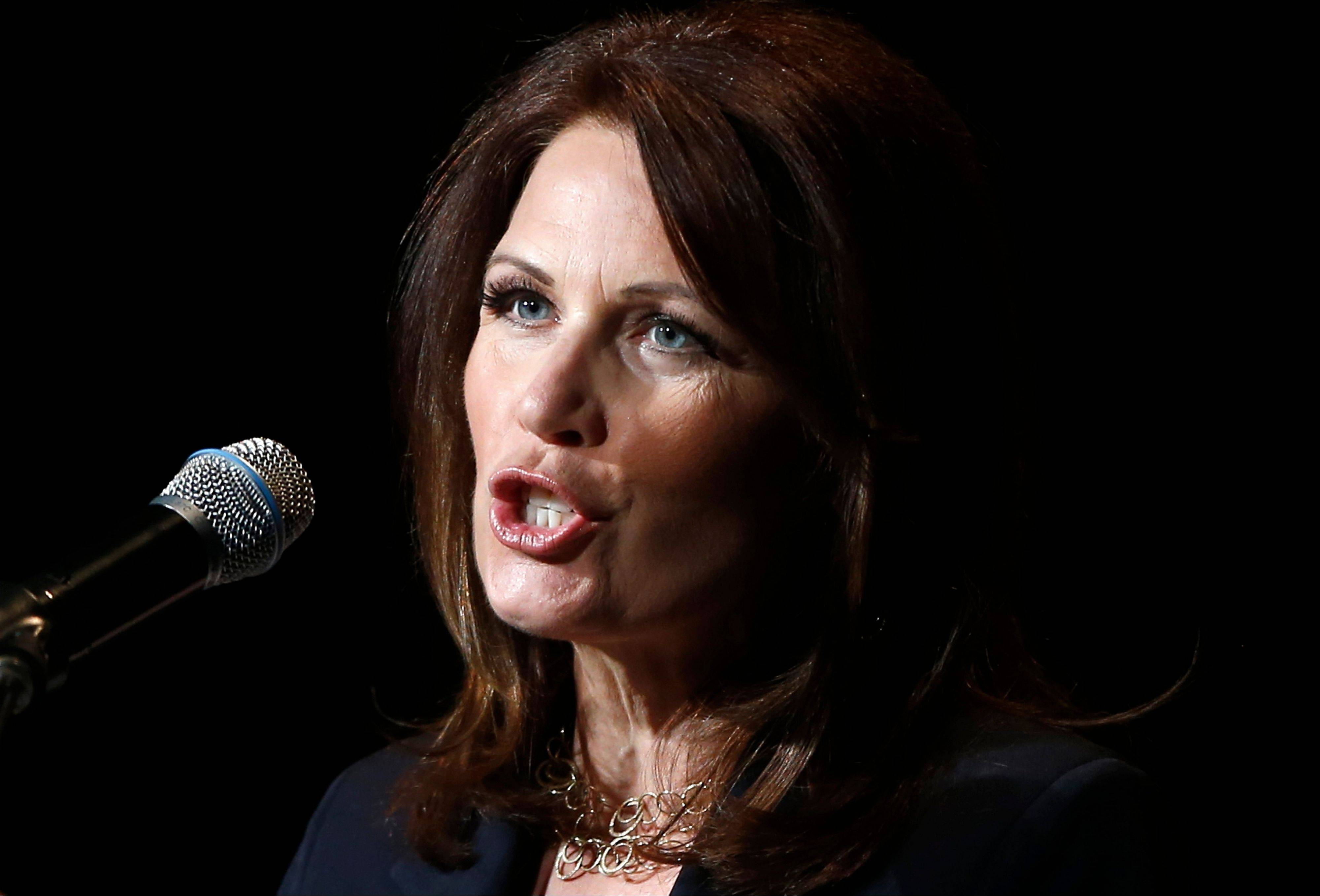 Associated Press Minnesota Republican Rep. Michele Bachmann speaks Monday in Washington.