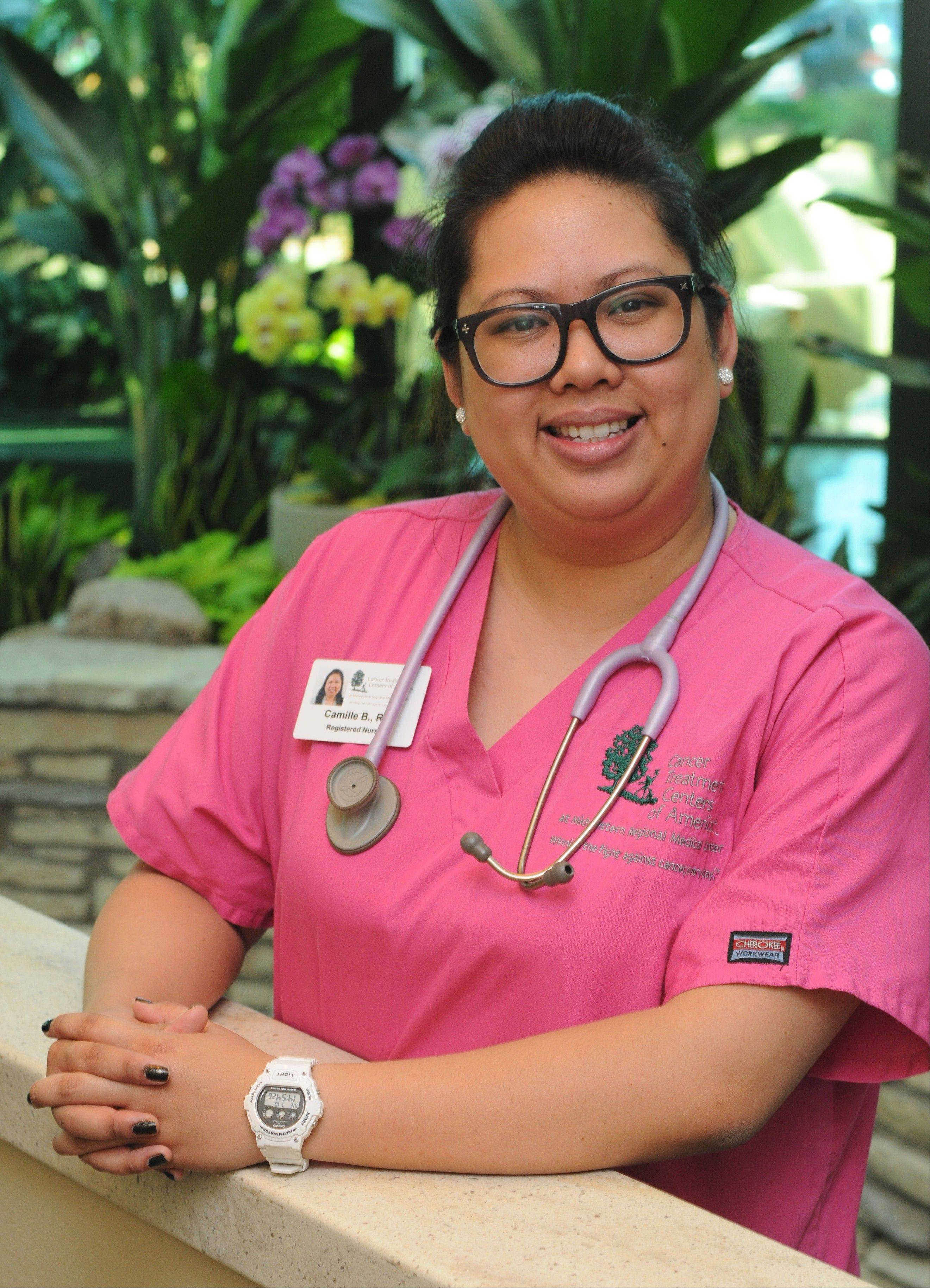 Camille Bejar, 28, was in the middle of nursing school when both her parents died from cancer. Today, Bejar says her career as a nurse for cancer patients is dedicated to them.