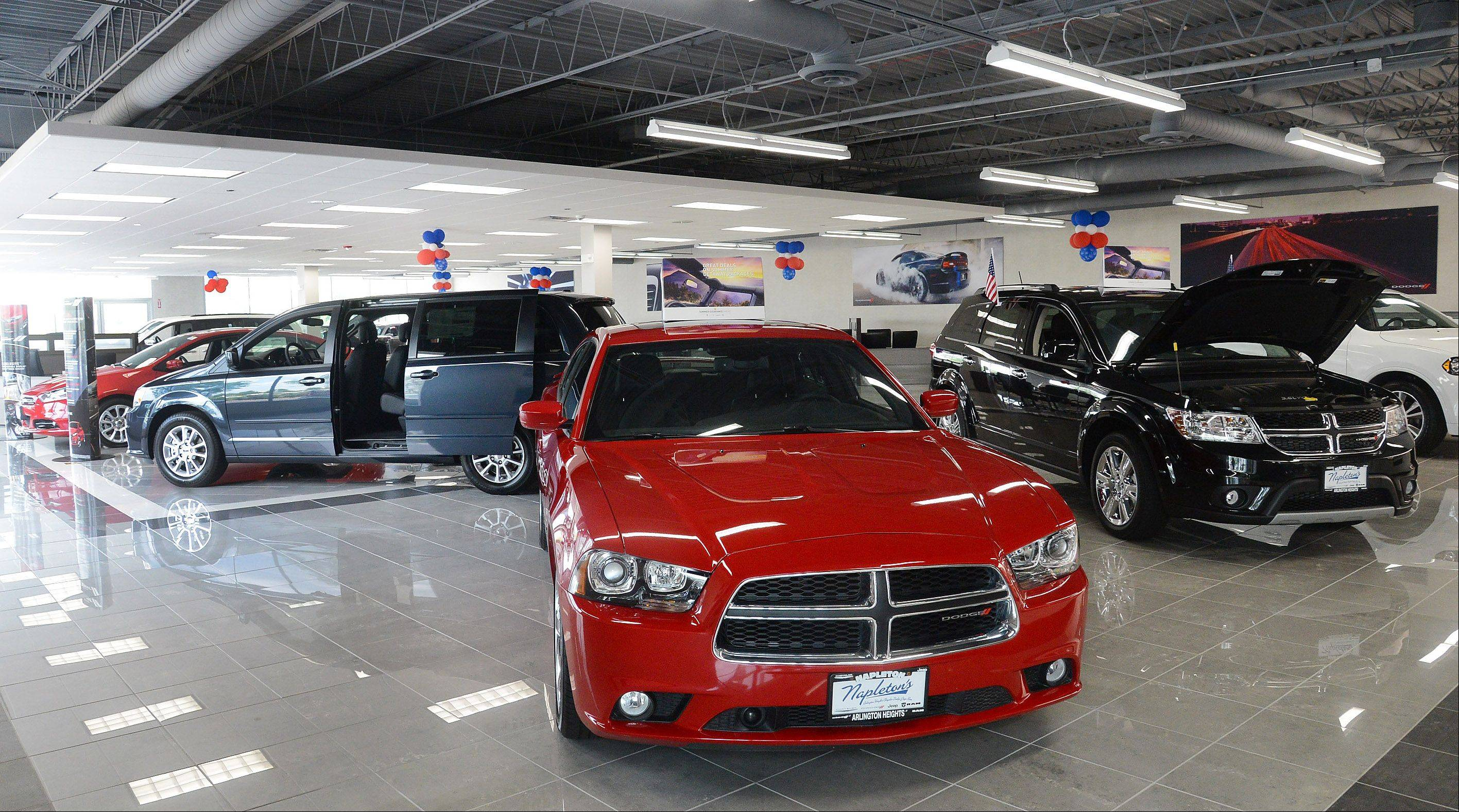 Napleton Chrysler Dodge Jeep RAM relocated to Arlington Heights in May and celebrated a grand opening of the new dealership on Saturday.