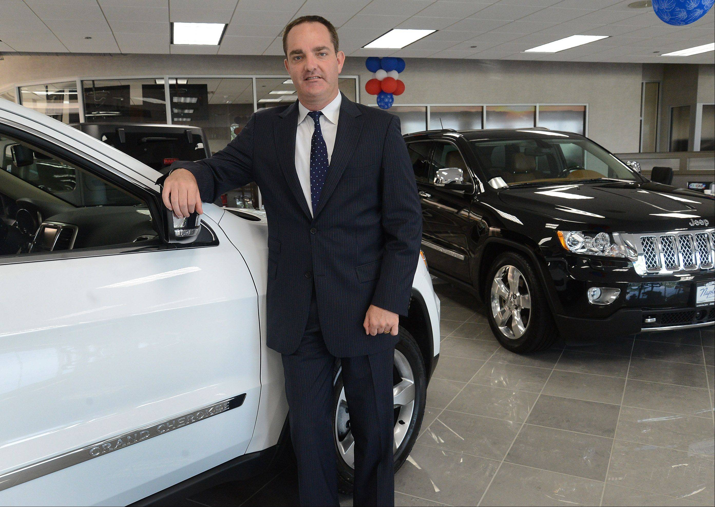Ed Napleton of Napleton Chrysler Dodge Jeep RAM in Arlington Heights is a fourth-generation member in his family's automotive business.