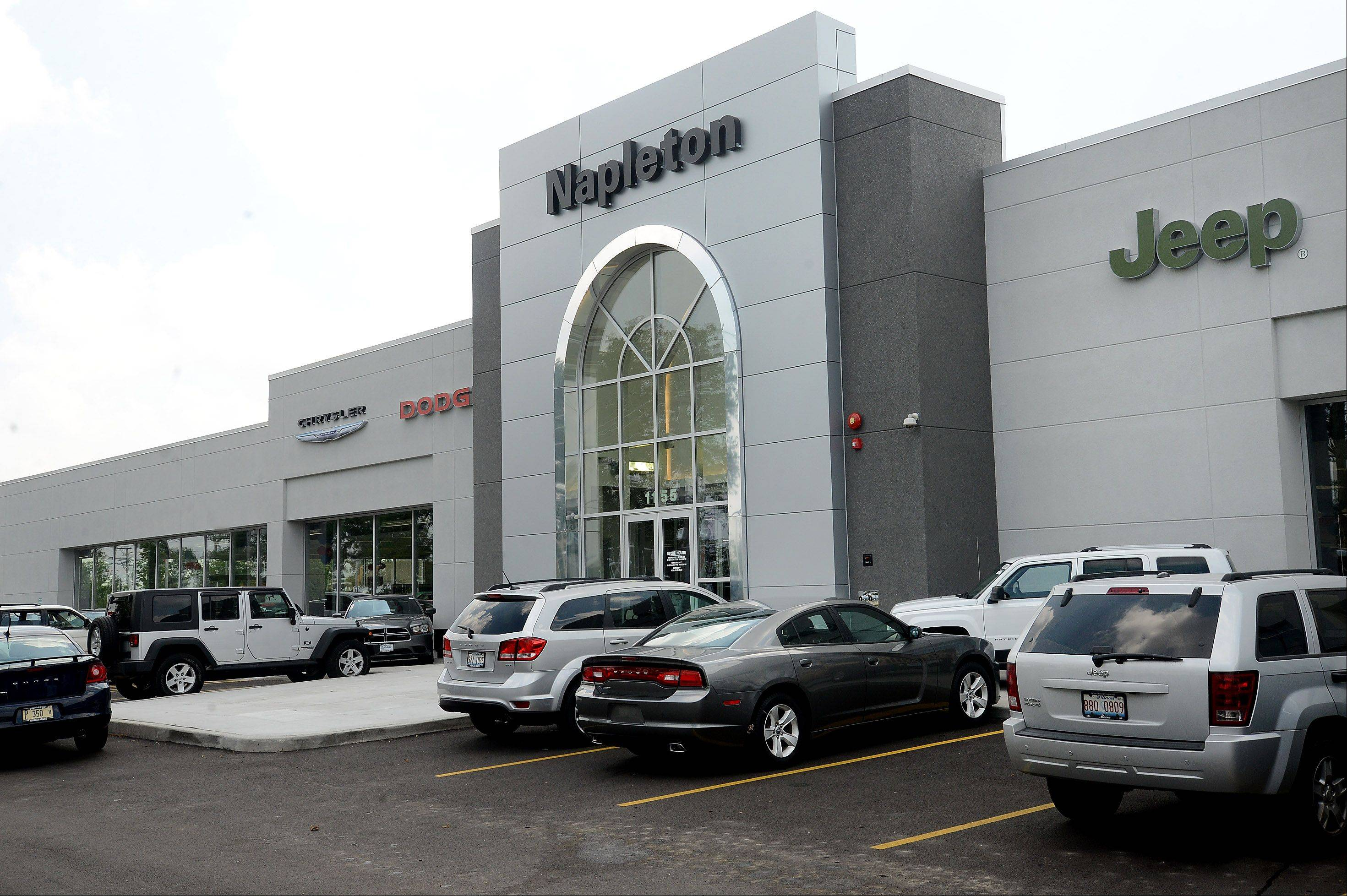 The new Napleton Chrysler Dodge Jeep RAM in Arlington Heights is five times larger than the dealership's previous location in Des Plaines.