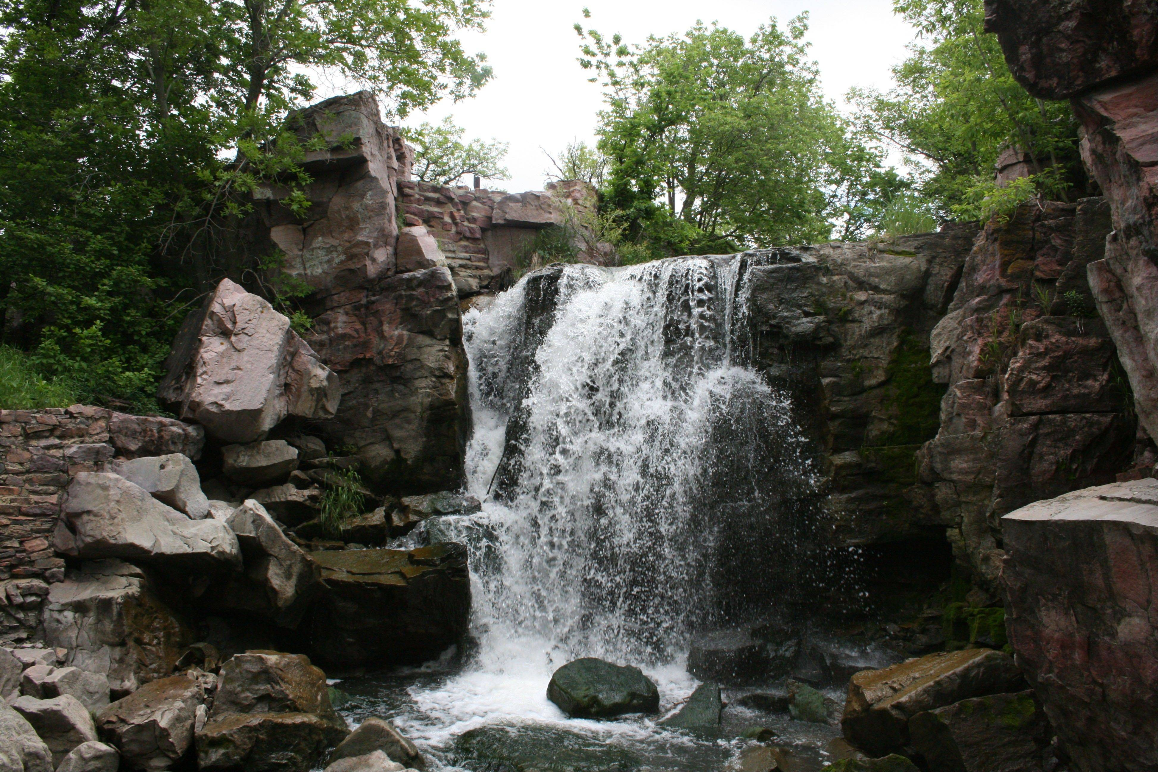 The Winnewissa Falls at Pipestone National Monument in Minnesota. More than 50 Native Americans travel to Pipestone to quarry catlinite -- sheets of stone -- that will then be carved into pipes used in traditional ceremonies.