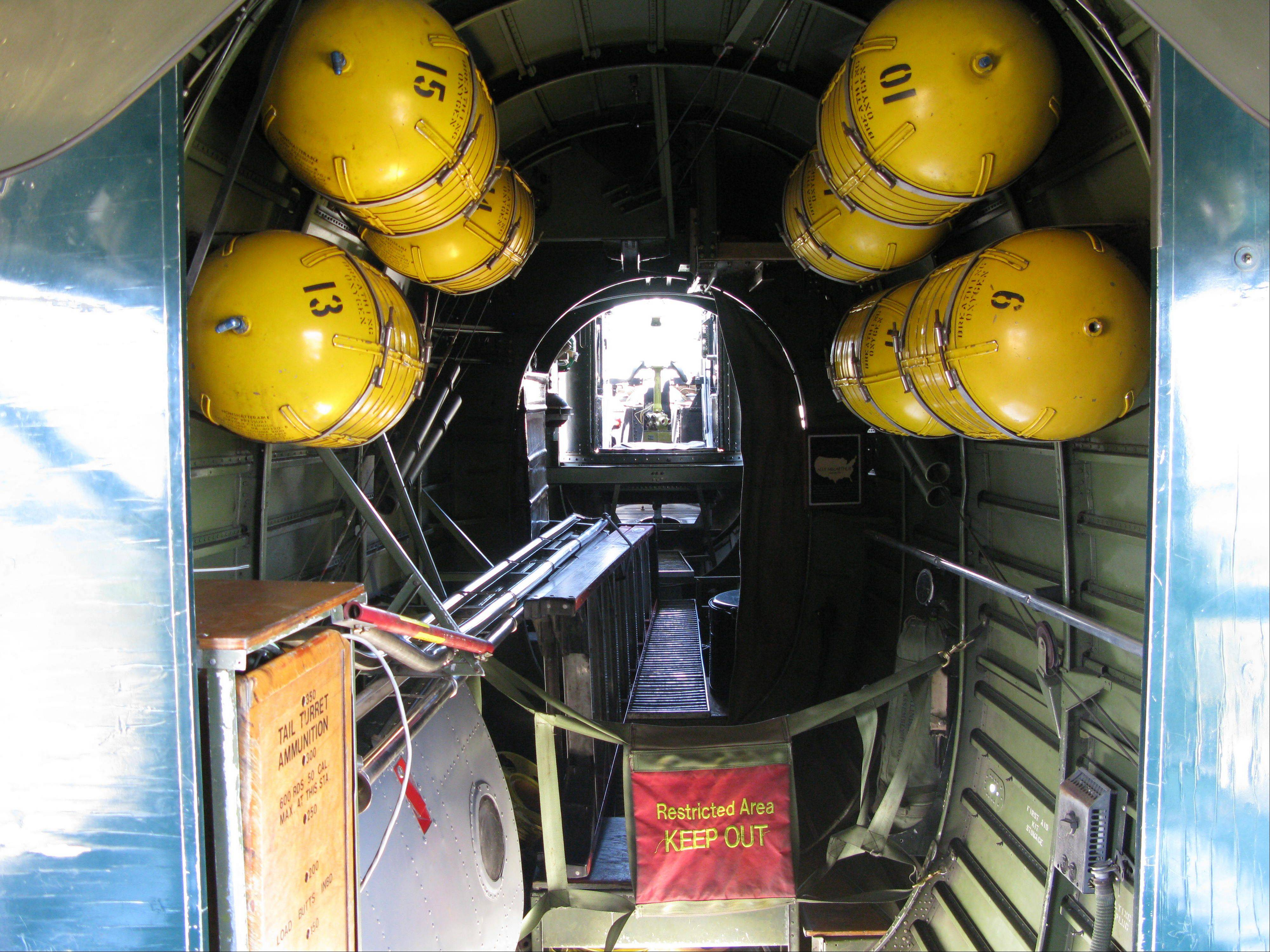 The bomb bay inside a World War II-era B-24 bomber is part of the Wings of Freedom tour.