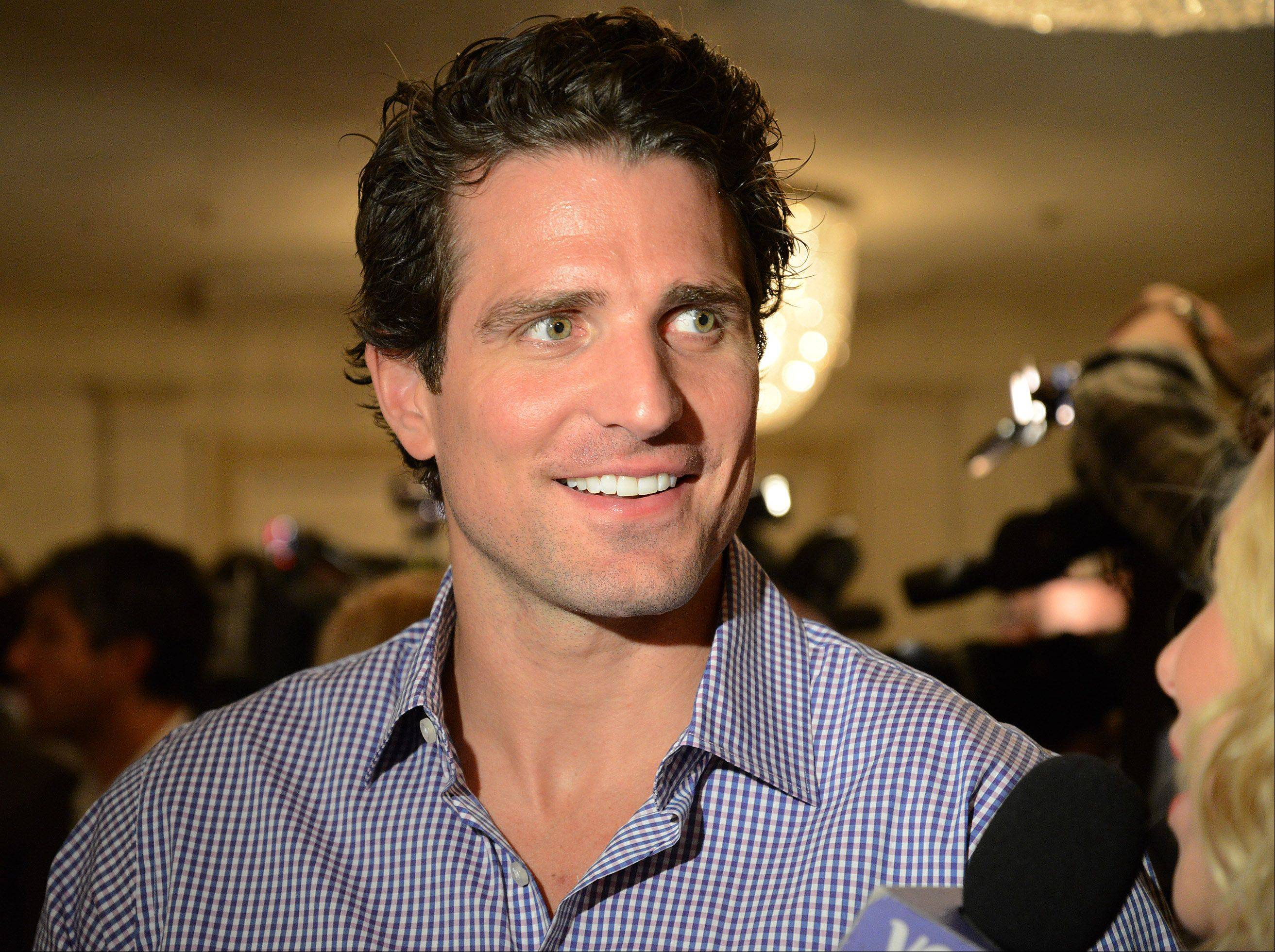 Patrick Sharp is interviewed.