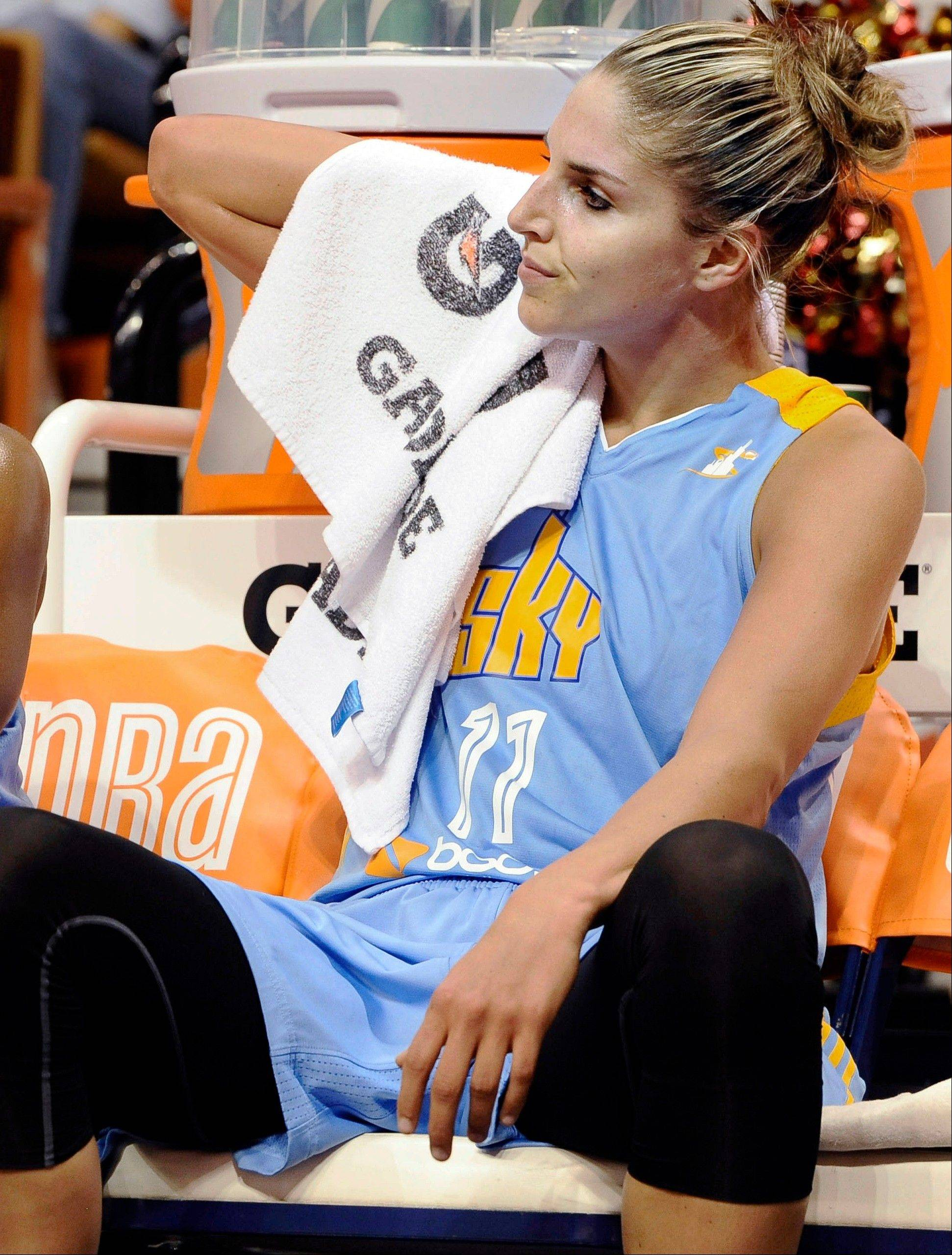 Chicago Sky forward Elena Delle Donne will miss the WNBA All-Star game on Saturday while recovering from a concussion.
