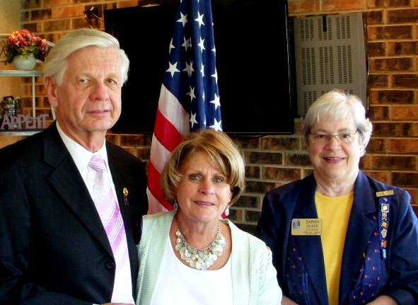 Ron and Linda Bykowski received their Paul Harris Fellow recognitions from District Governor Sara Oliver.