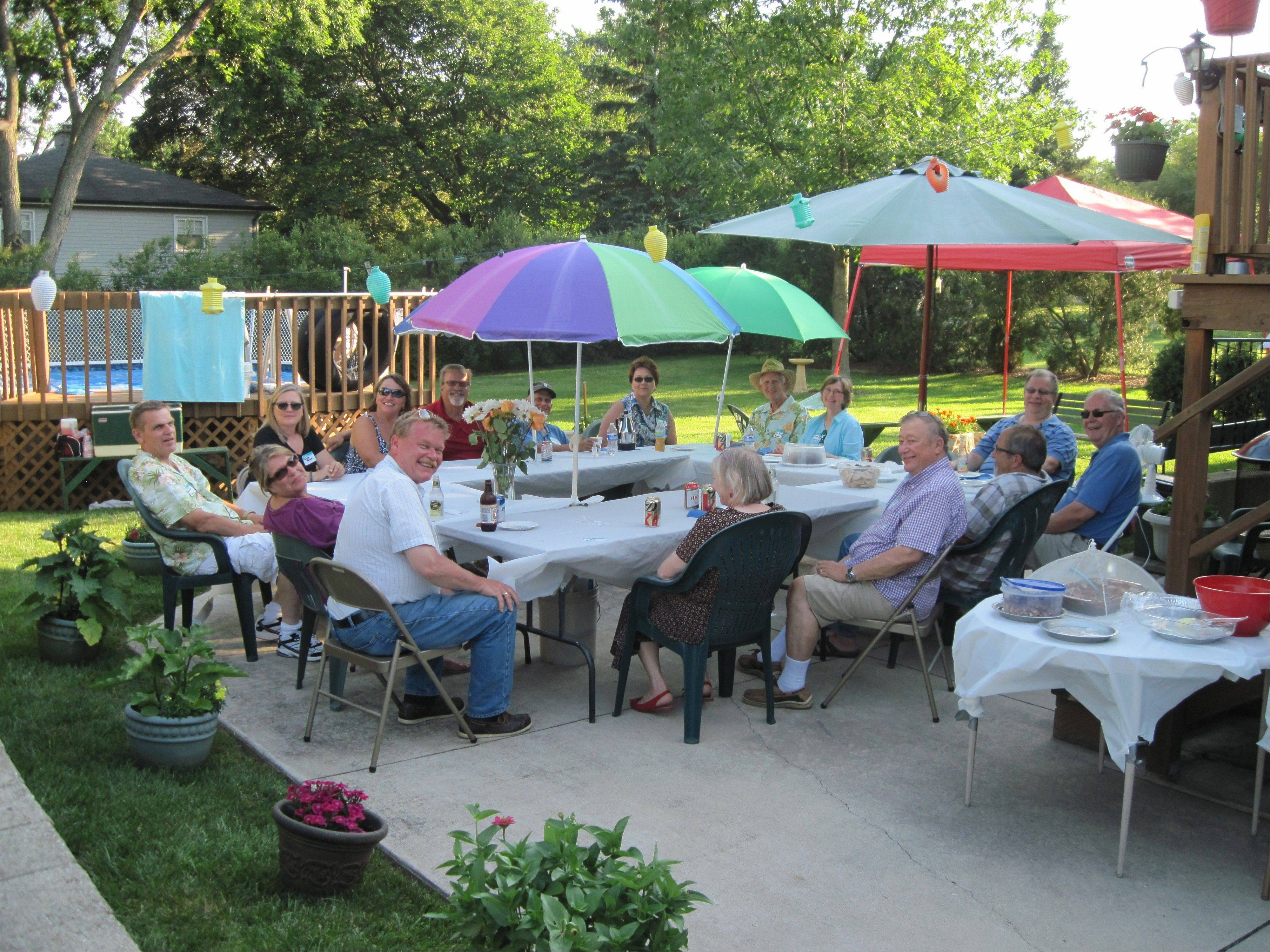 The Haemker Family enjoys a reunion in the Palatine backyard of Chuck and Margie Anderson.