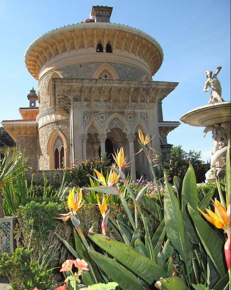 The garden of Monserrate Palace in Sintra.