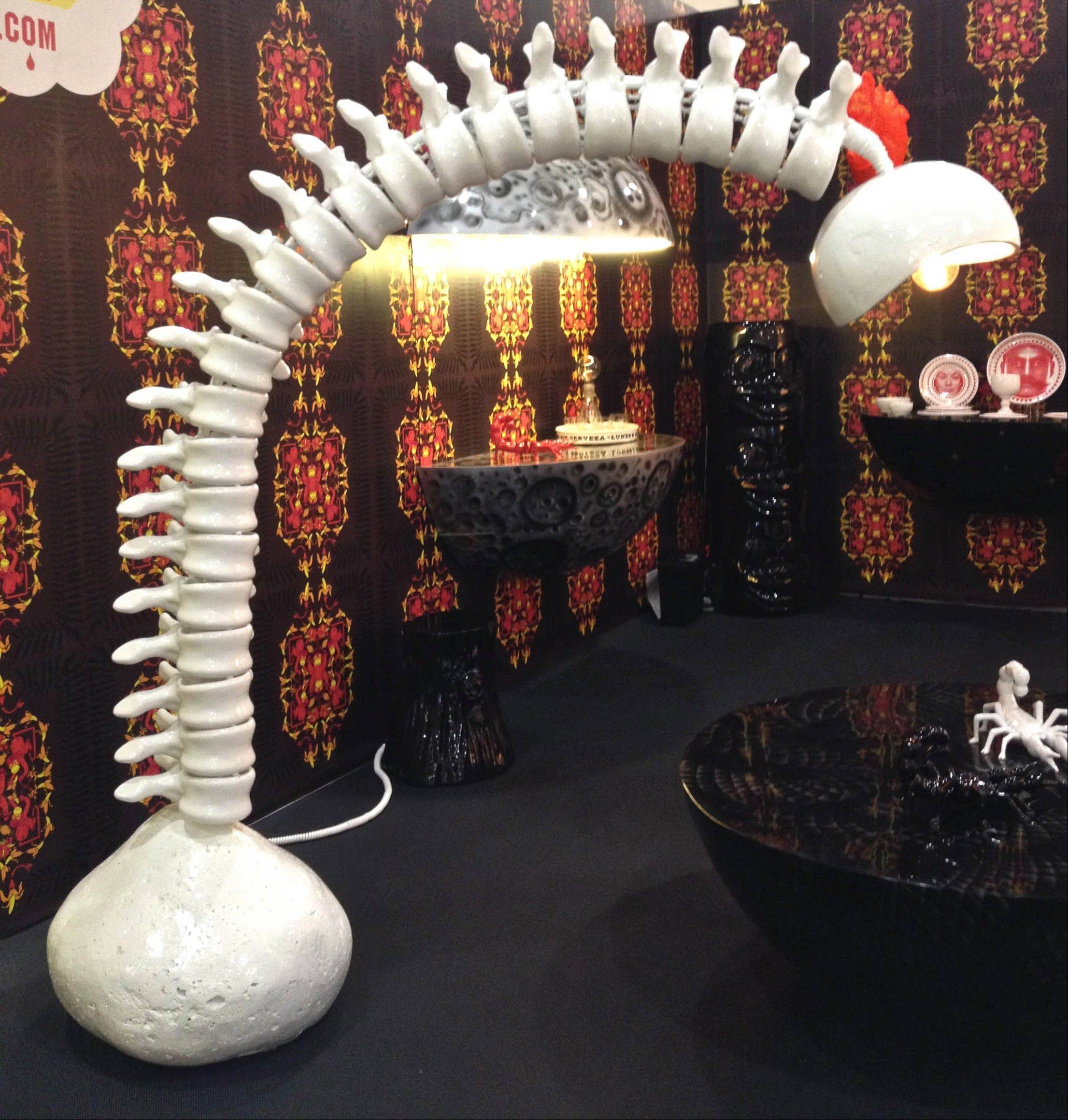 DFC's porcelain spine floor lamp.