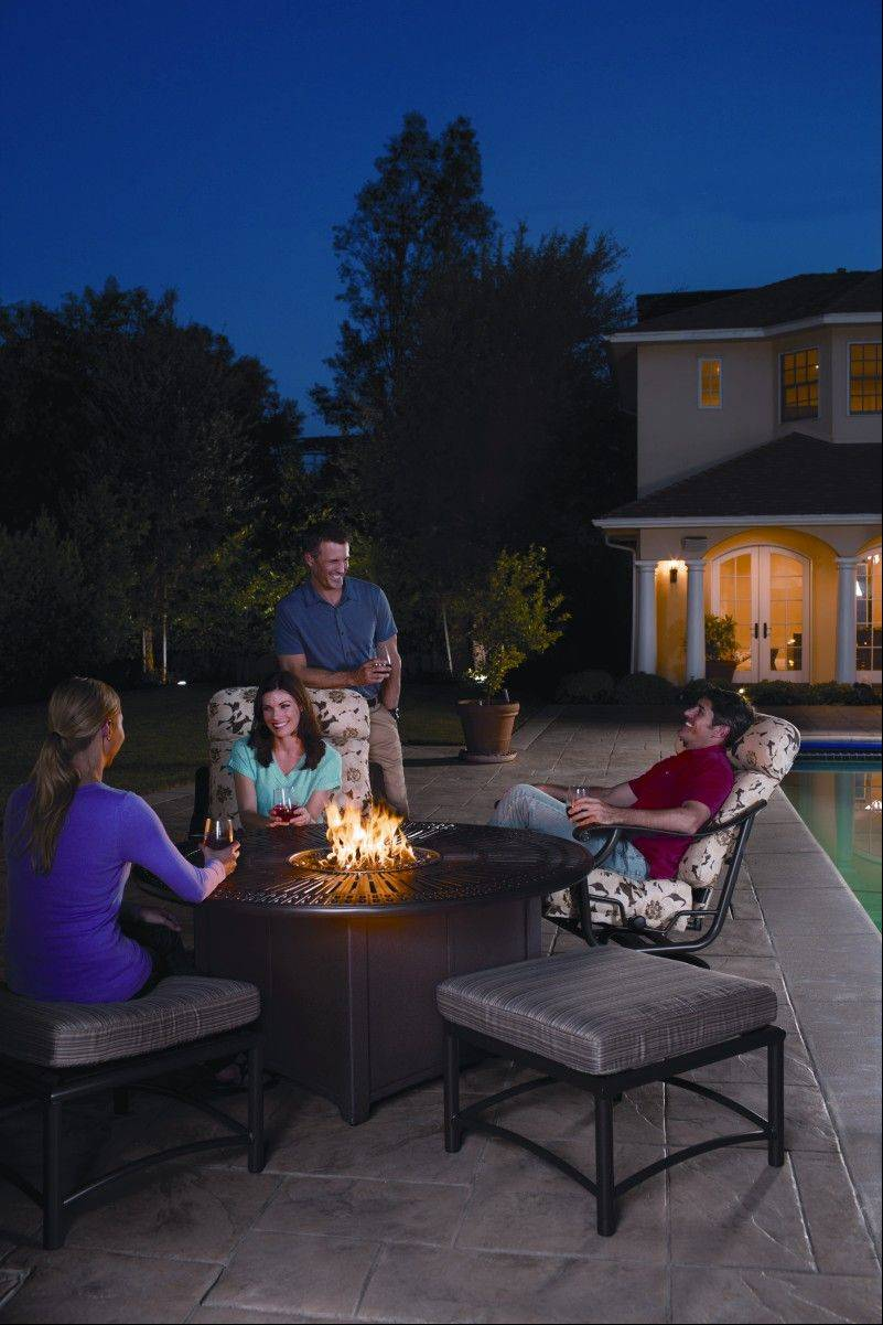 Tabletop fire pits that burn propane or natural gas have gained in popularity.
