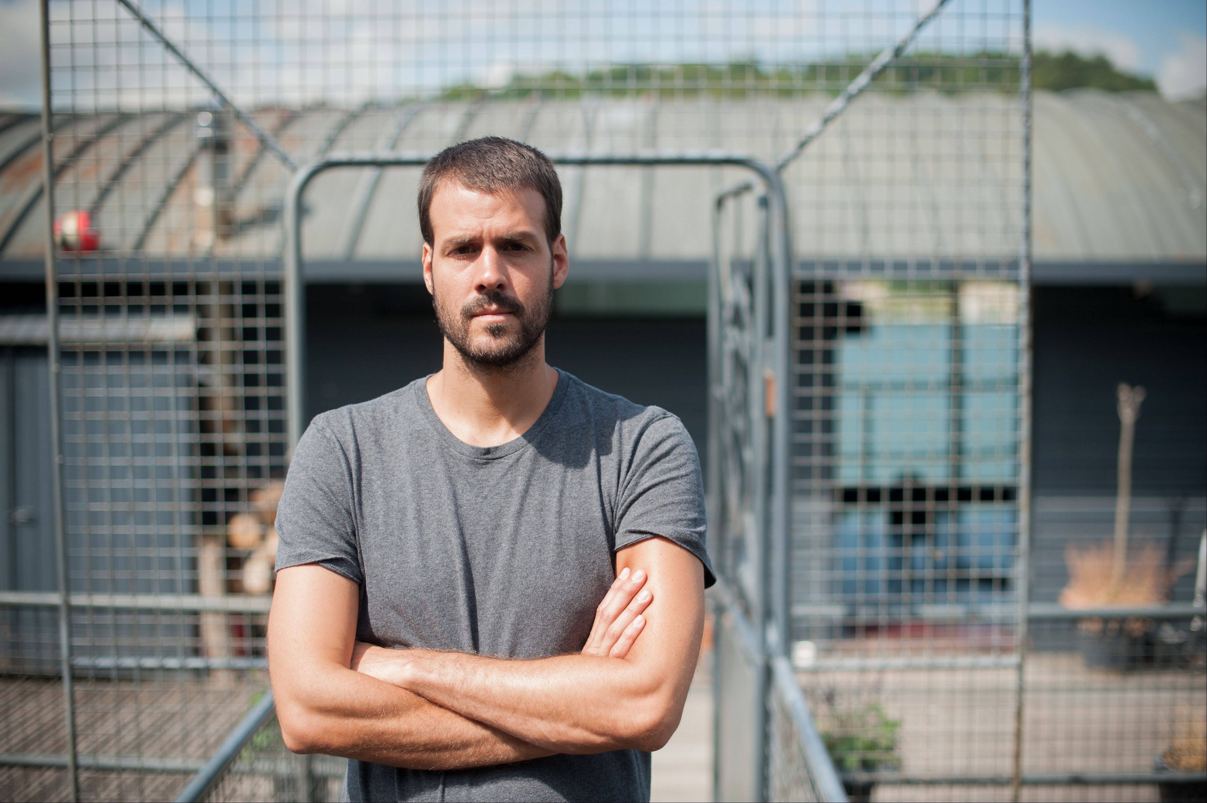 Photojournalist Jonathan Alpeyrie poses for a photo in Paris on Friday. Alpeyrie was released after being held for 81 days by a Syrian milita.