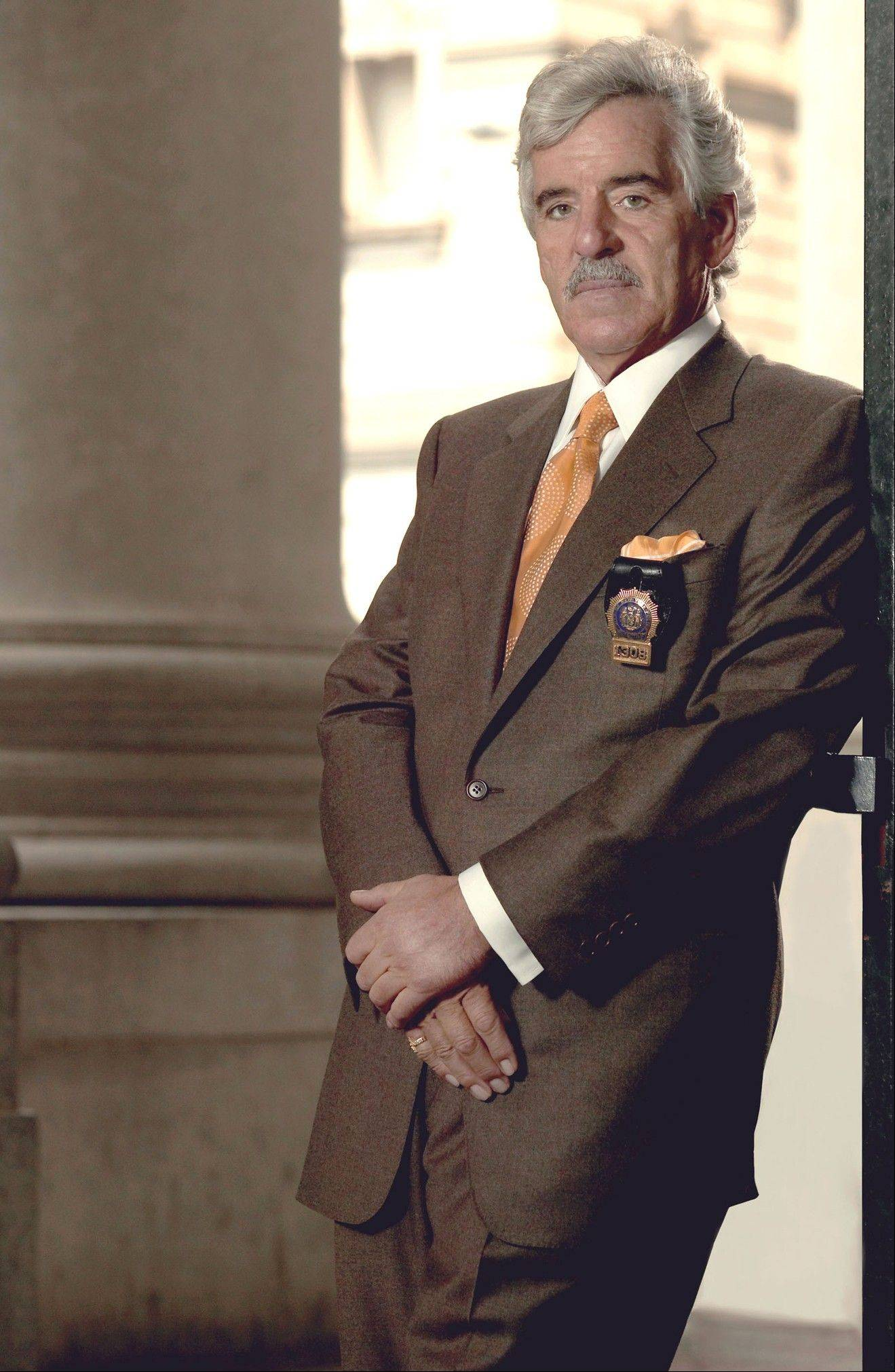 "Dennis Farina in character as Police Detective Joe Fontana on NBC's ""Law & Order."""