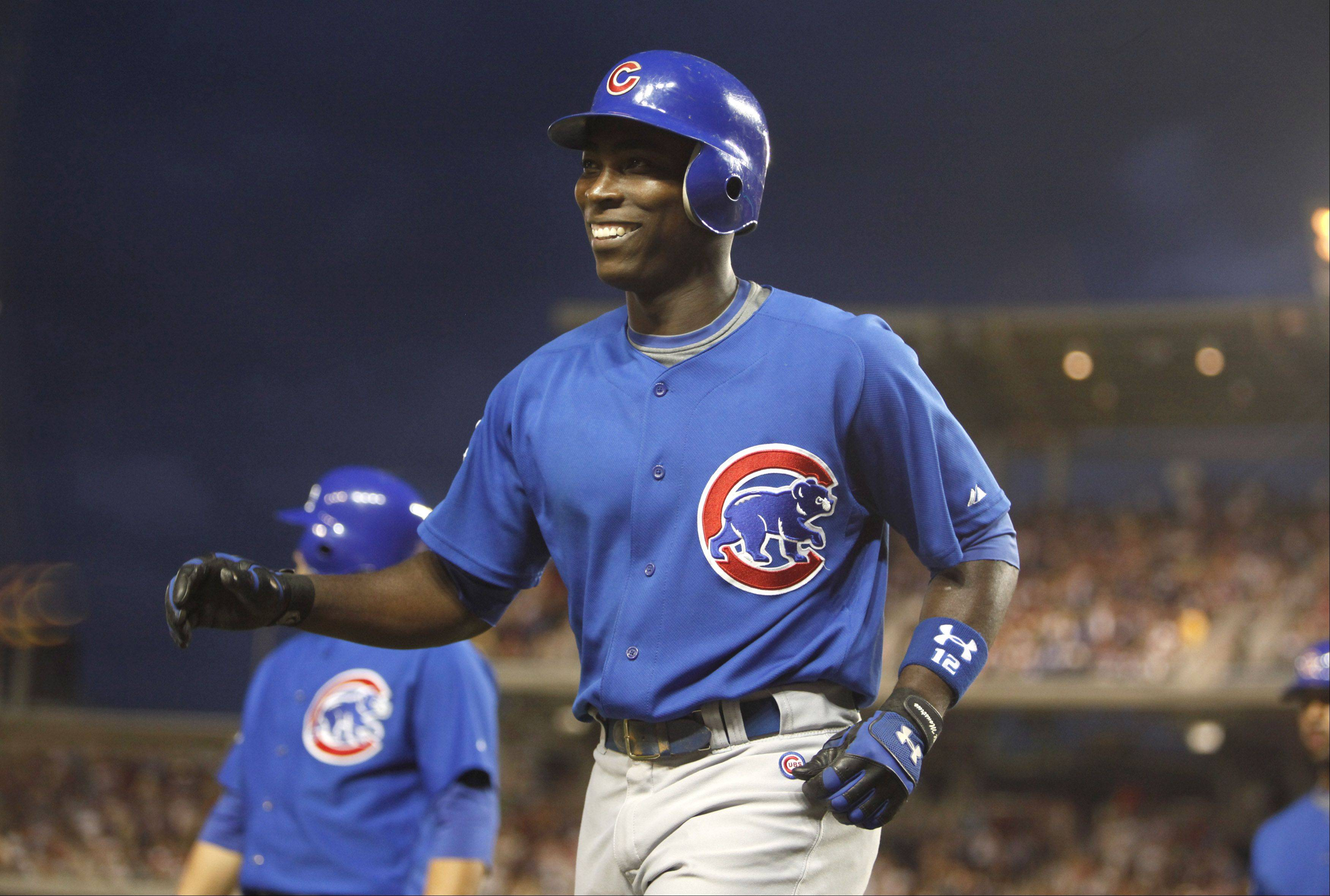 That ever-present smile was part of Alfonso Soriano's repertoire. This one came after he hit a three-run home run against the Washington Nationals in 2009.