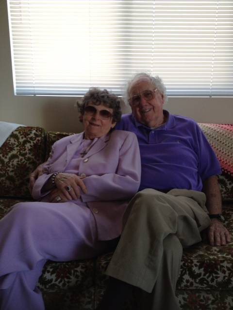 Barbara and John Dries settling into their beautiful new two-bedroom apartment at Lexington Square in Elmhurst