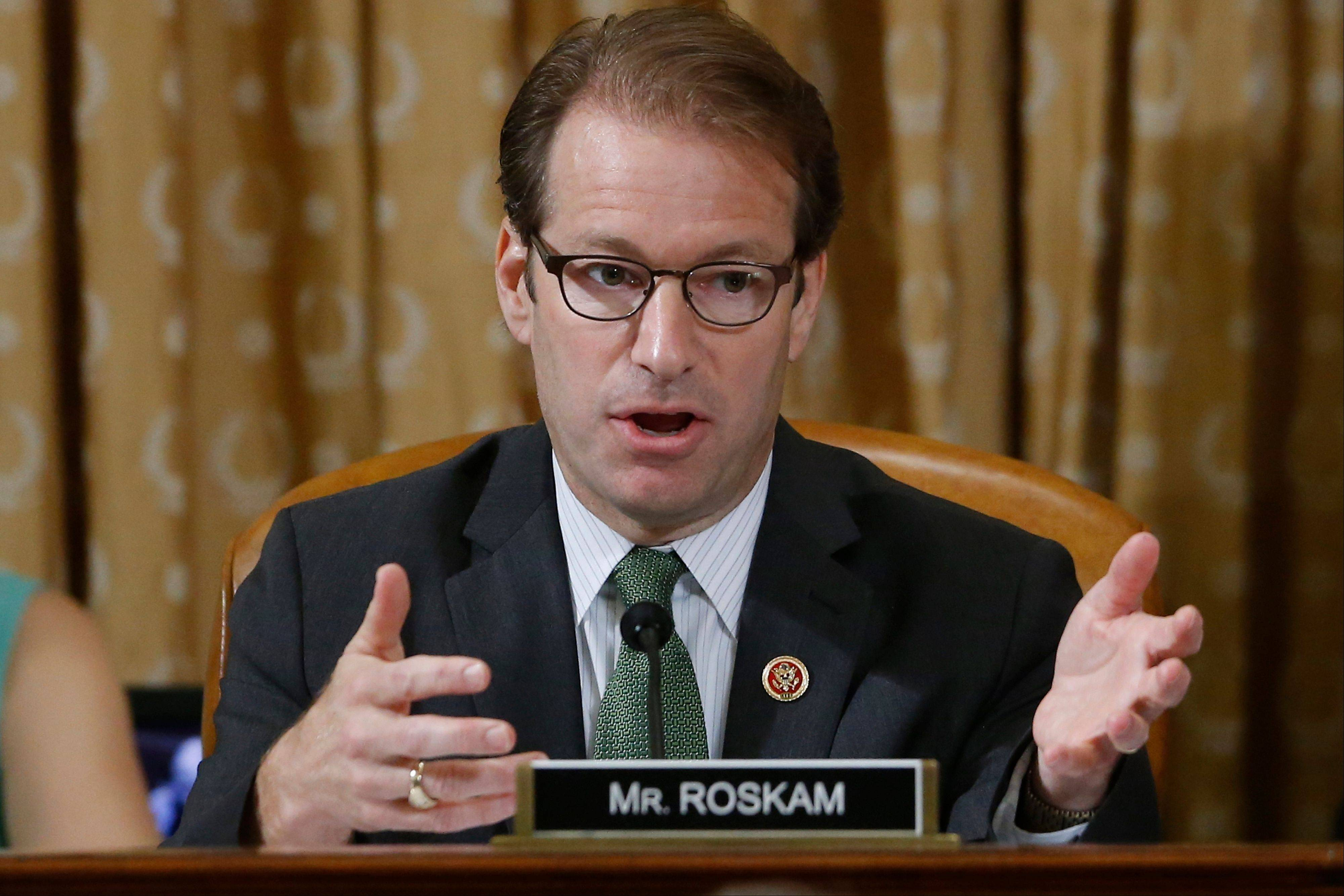 U.S. Rep. Peter Roskam, of Wheaton, speaks on Capitol Hill in Washington last May.