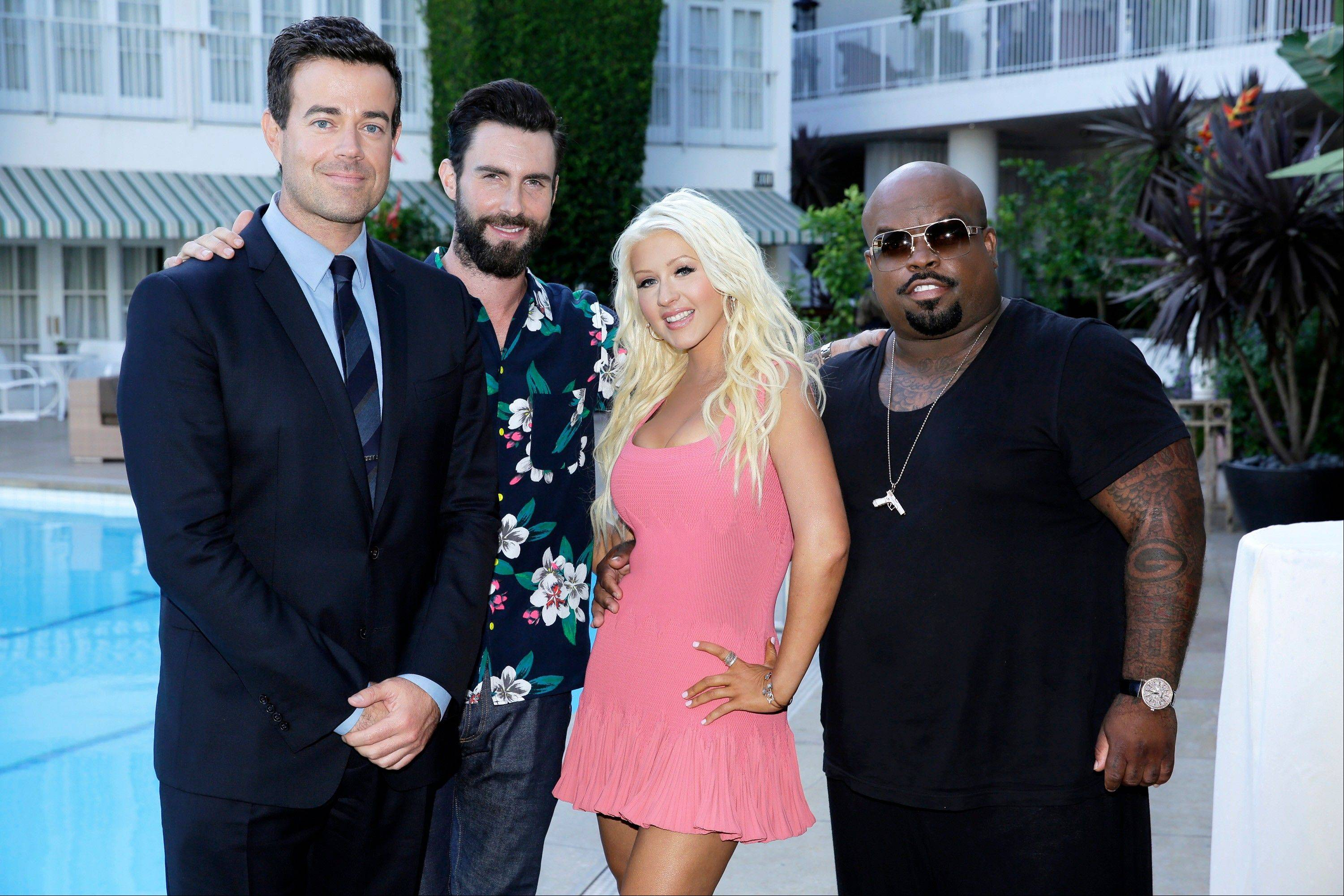 "Carson Daly, left, Adam Levine, Christina Aguilera, and CeeLo Green say finding a star on ""The Voice"" isn't really the goal."