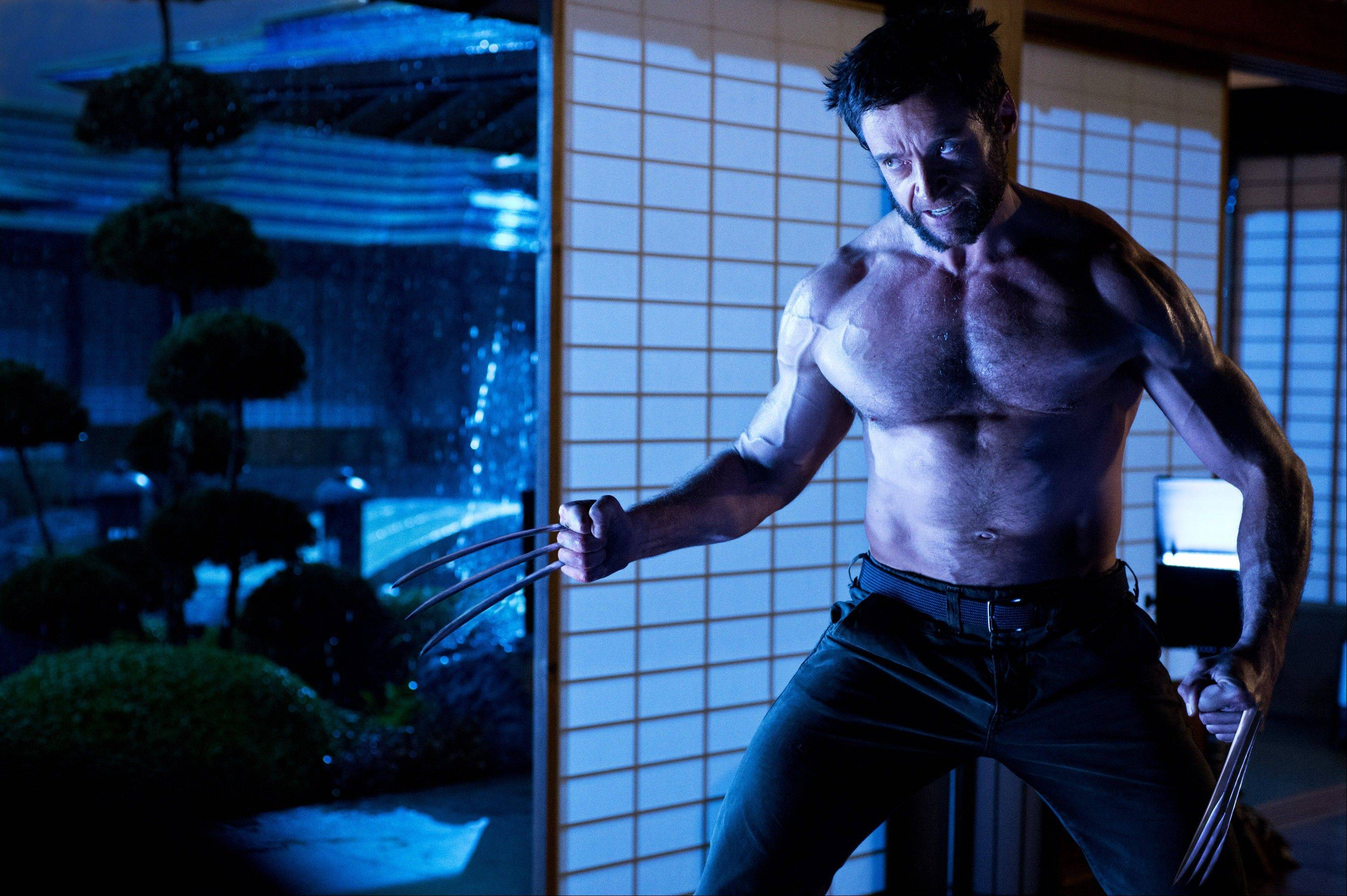"This publicity photo released by Twentieth Century Fox shows Hugh Jackman as Logan/Wolverine in a scene from the film, ""The Wolverine."""