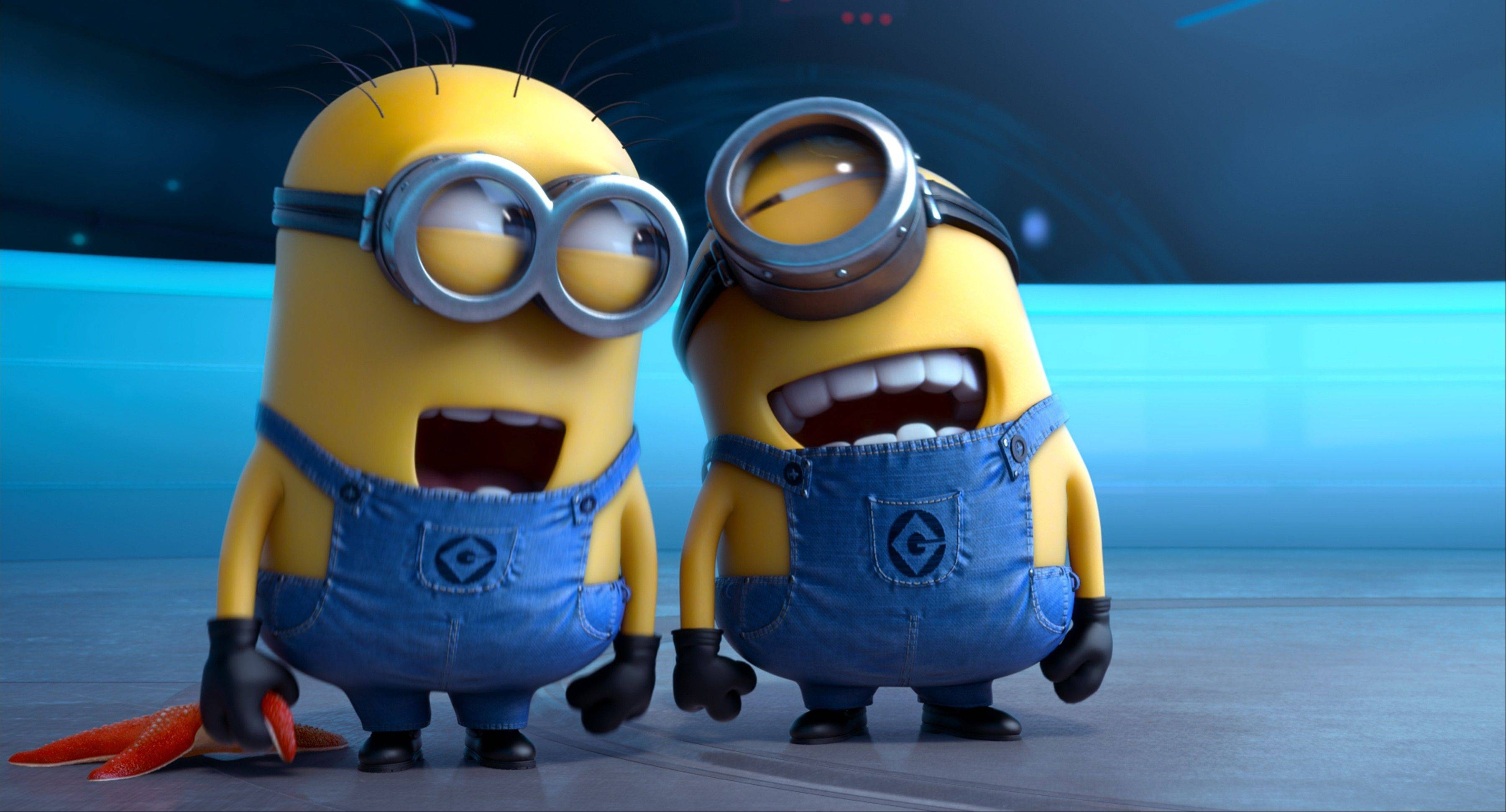 "This film publicity image released by Universal Pictures shows the minion characters in ""Despicable Me 2."" The animated sequel added another $16 million to its more than $600 million worldwide box office haul."