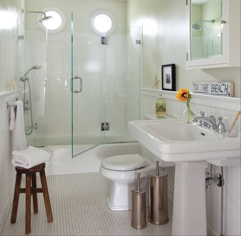 are design choices that make it much easier to clean a bathroom