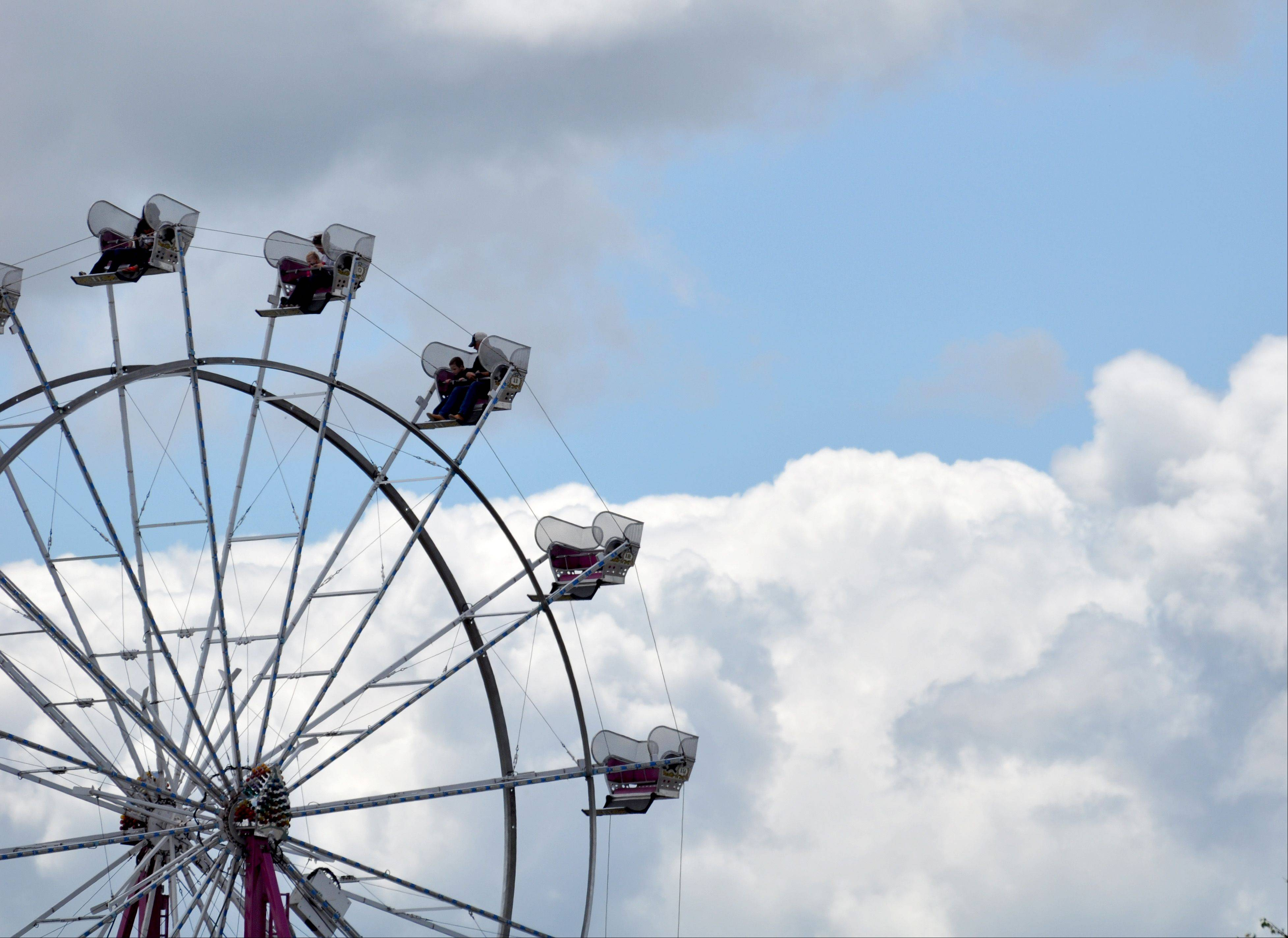 The clouds broke and the sun began to shine during the final day of the Lake County Fair Sunday, July 28.