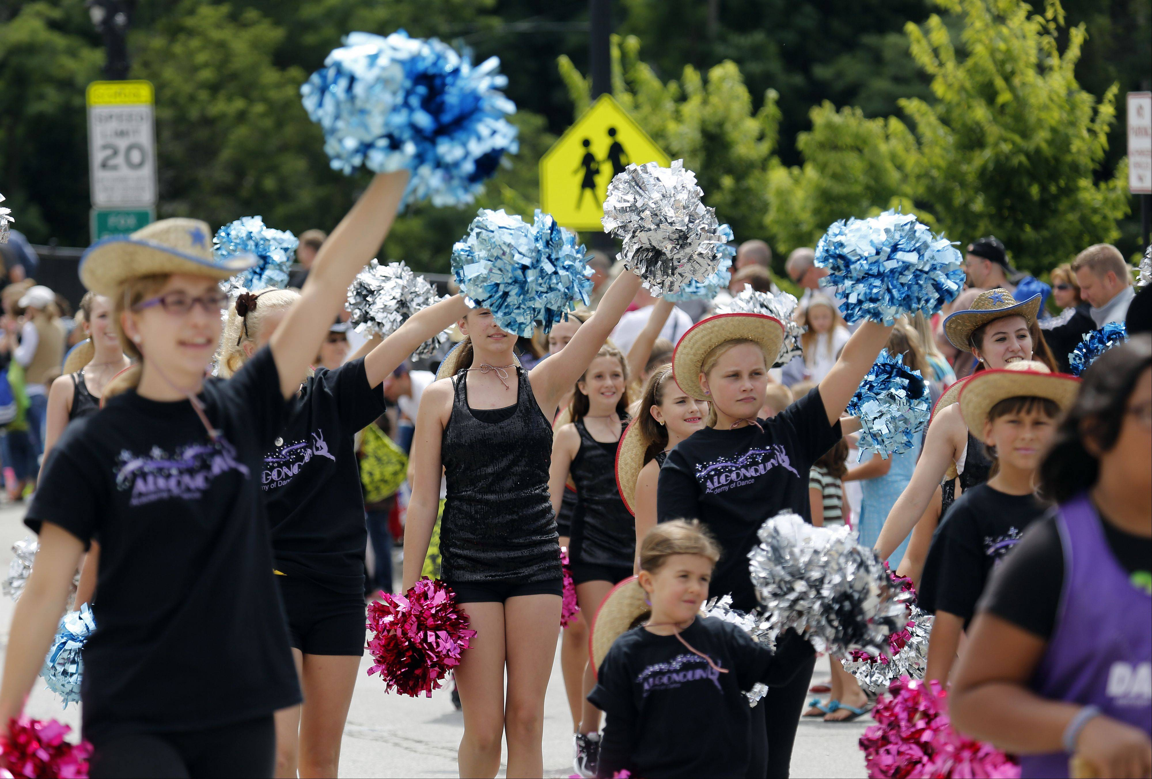 The Algonquin Academy of Dance & Music make their way down the parade route during Algonquin Founders Day parade Saturday.