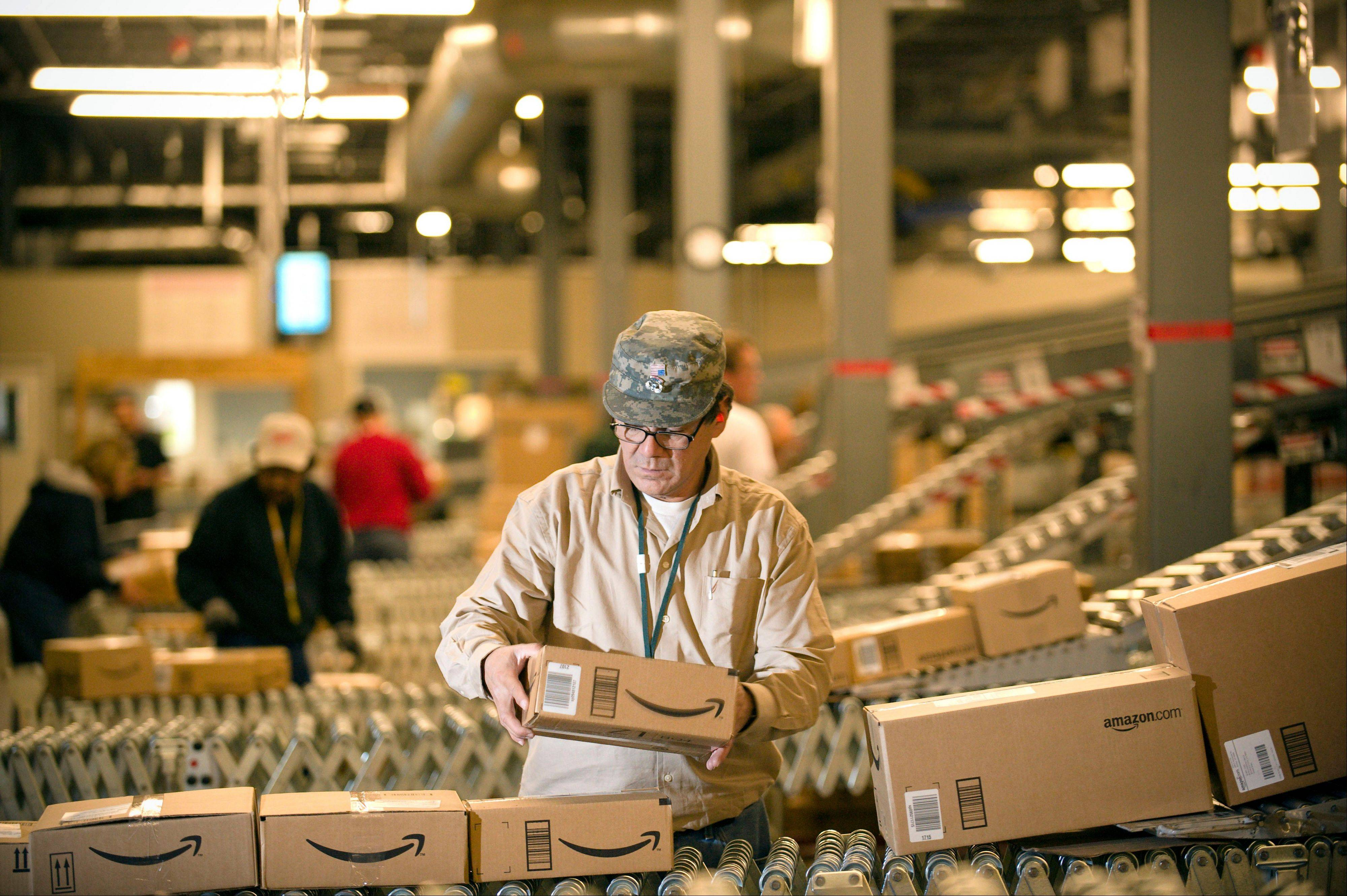 Amazon.com Inc. says it is adding 7,000 jobs in 13 states, beefing up staff at the warehouses where it fills orders, and in its customer service division.