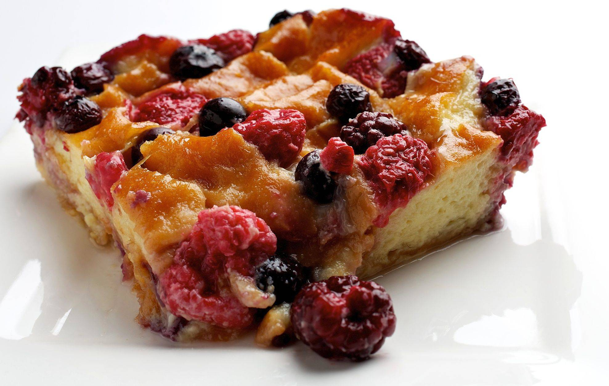 This twist on bread pudding is so good you�ll want to buy extra doughnuts next time you�re at the shop. Add your favorite berries or fruit.