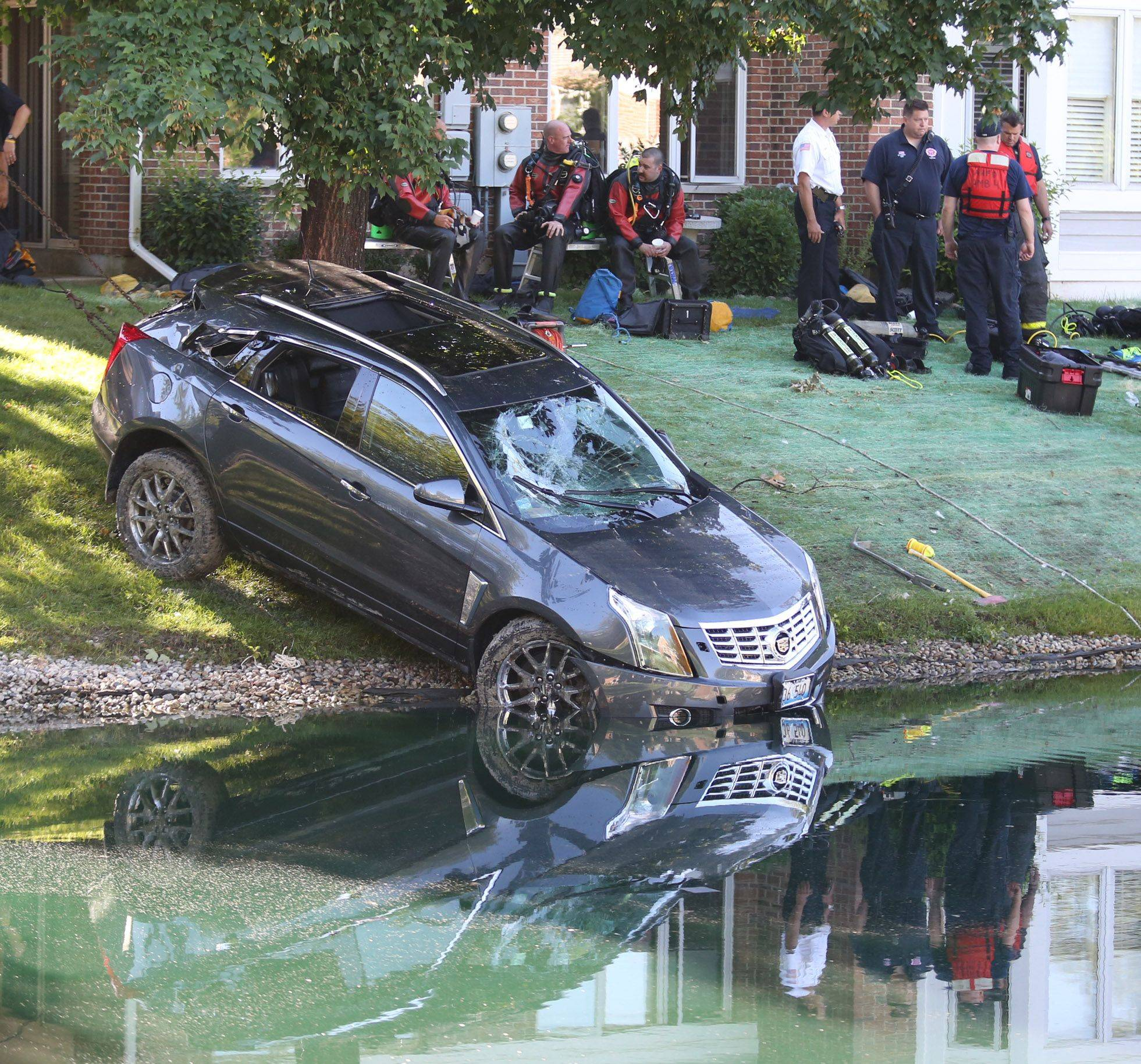 Northwest Central Dispatch is investigating whether dispatchers properly handled 911 calls made Thursday morning after an Arlington Heights man accidentally drove his vehicle into a pond near his home. The driver, 89-year-old Henry Laseke, later died.