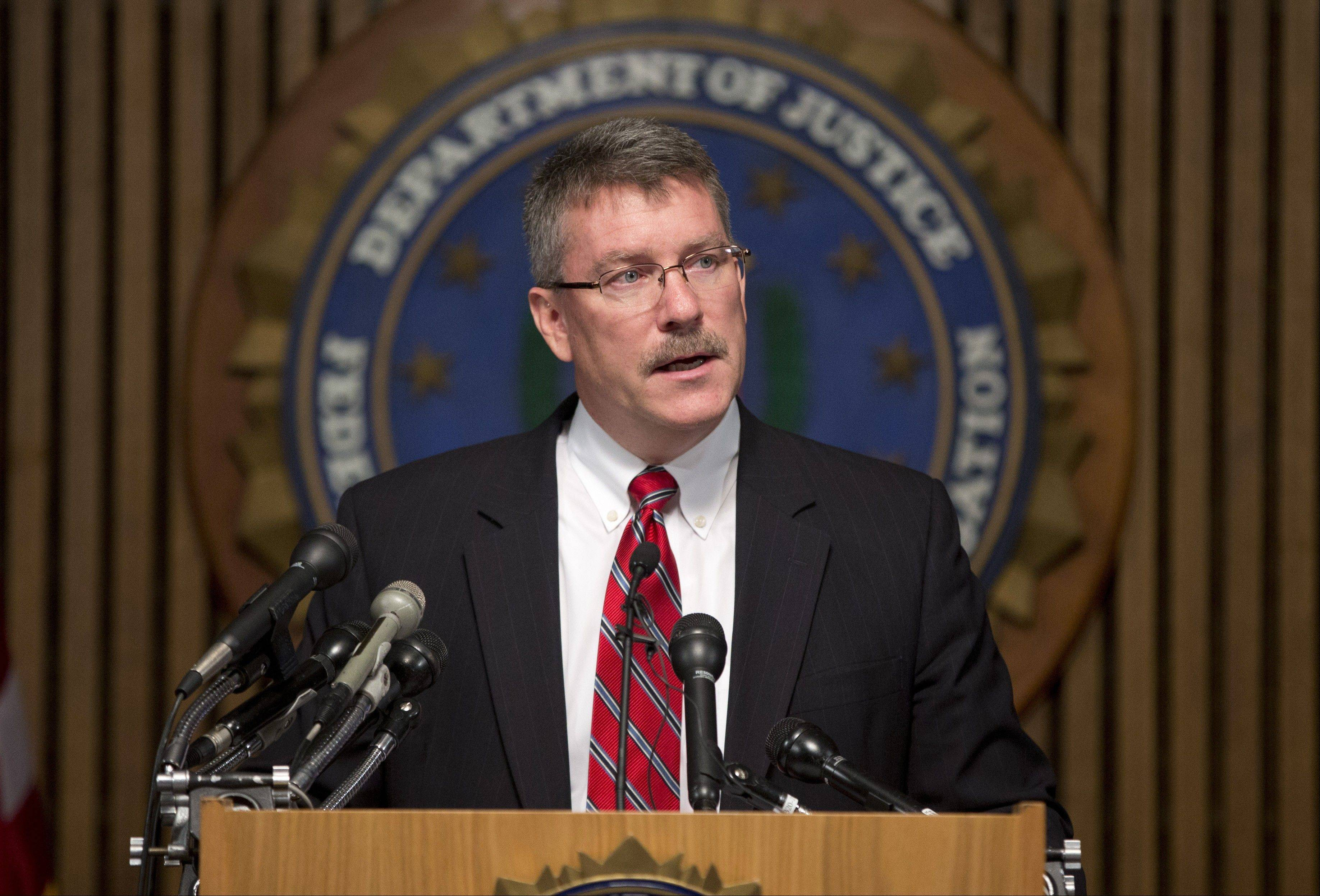 Ron Hosko, assistant director of the FBI's Criminal Investigative Division, speaks about Operation Cross Country during a news conference Monday at FBI headquarters in Washington, D.C. The FBI says the operation was conducted in 76 cities across the country, including Chicago.