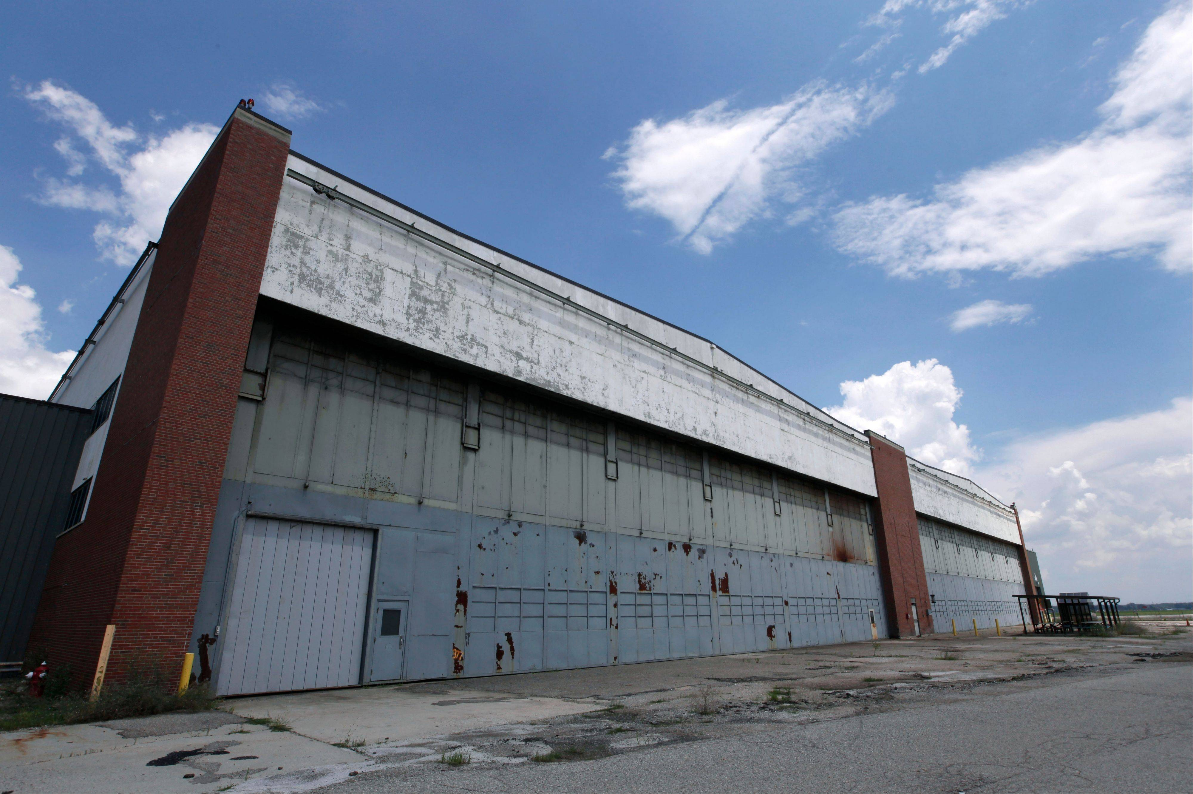 Part of the former Willow Run Bomber Plant at Willow Run Airport in Ypsilanti Township, Mich.