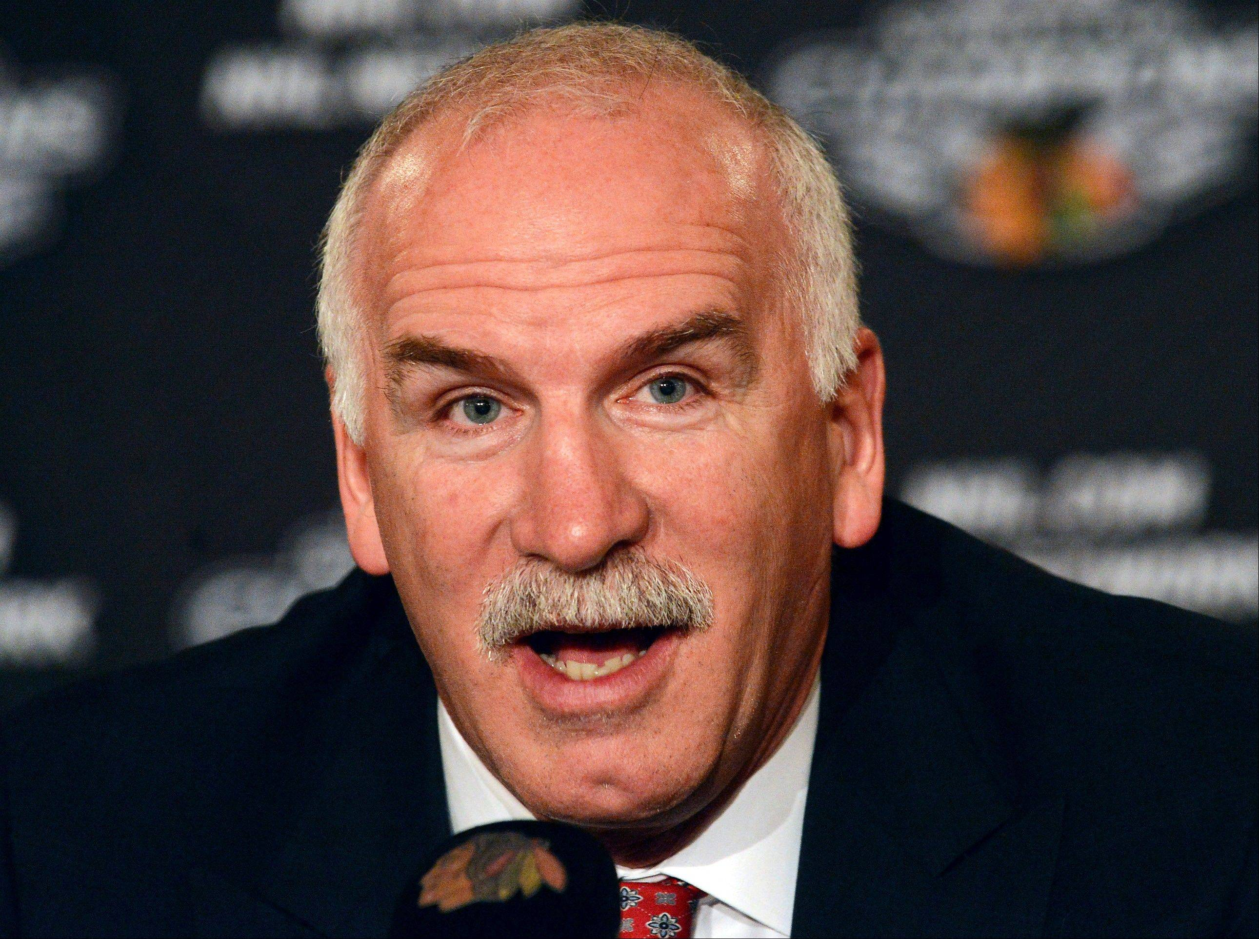 "Blackhawks head coach Joel Quenneville says he's not worried about the 'Stanley Cup hangover.' Going into this year will be comparable to how we started last year,"" Quenneville said. ""You want to make sure your depth is important and valuable throughout the year, use everybody and try to get off to the right start."""