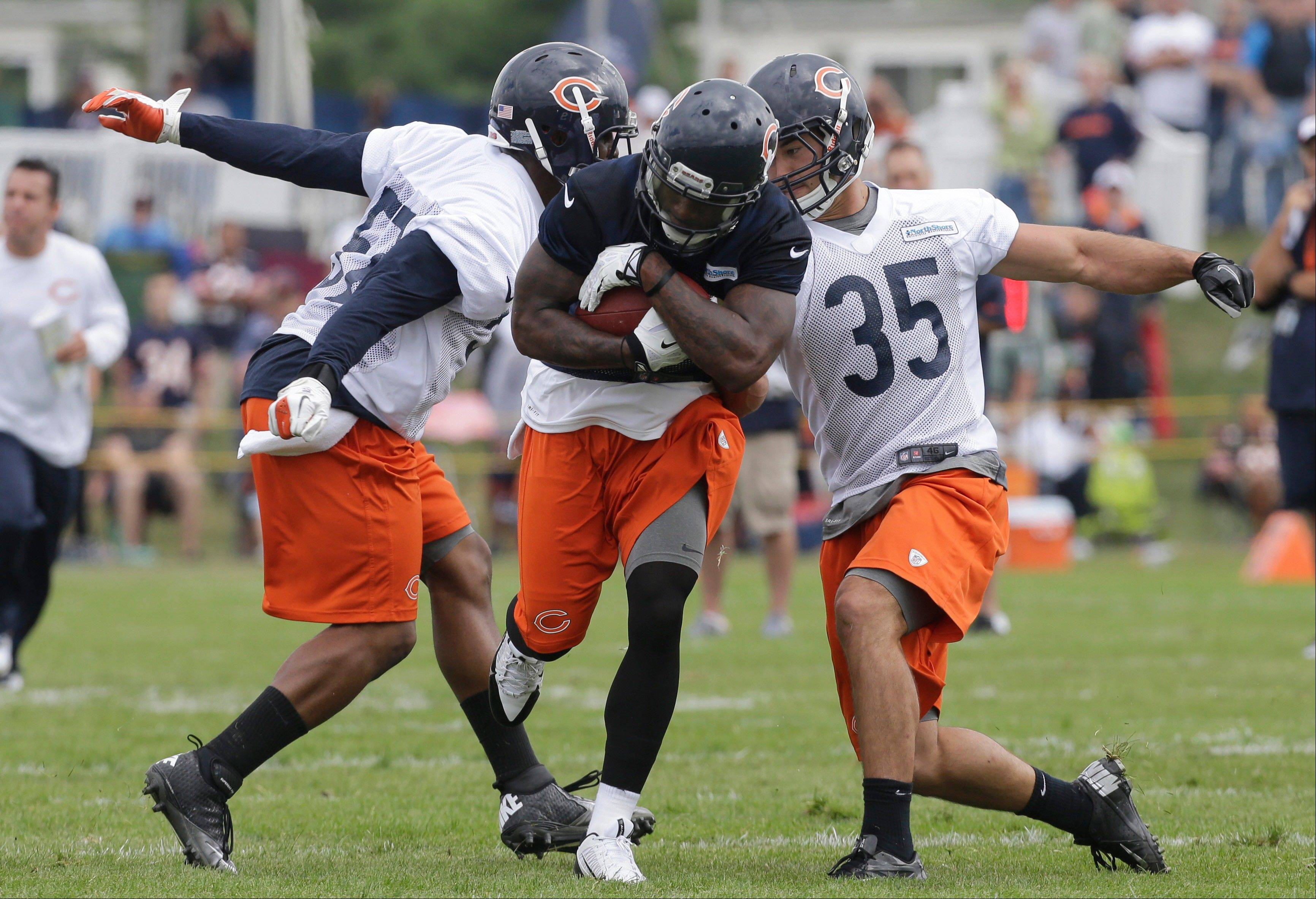 Wide receiver Joe Anderson, who spent most of last season on the Bears' practice squad, has impressed coach Marc Trestman in the early going of training camp.