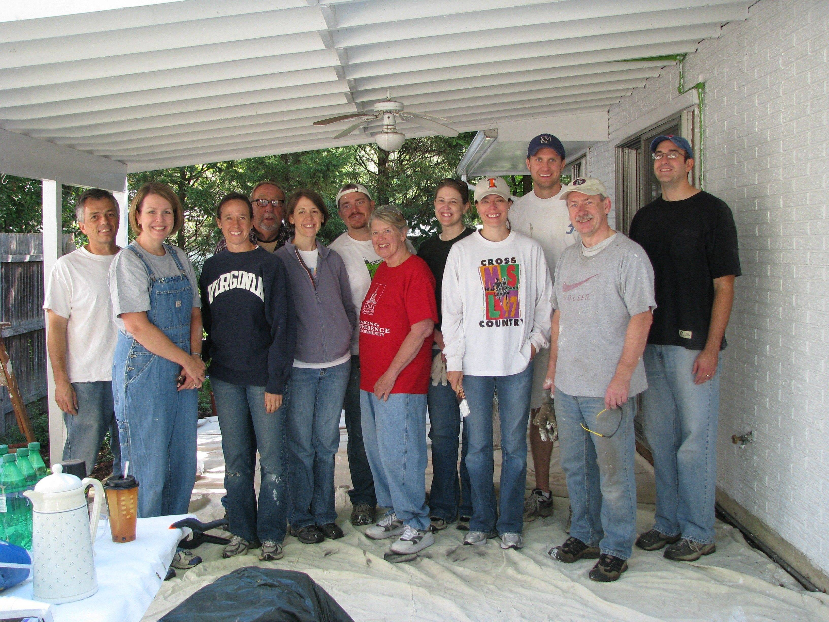 Volunteers from First Presbyterian Church participate in a previous Paint-A-Thon event.