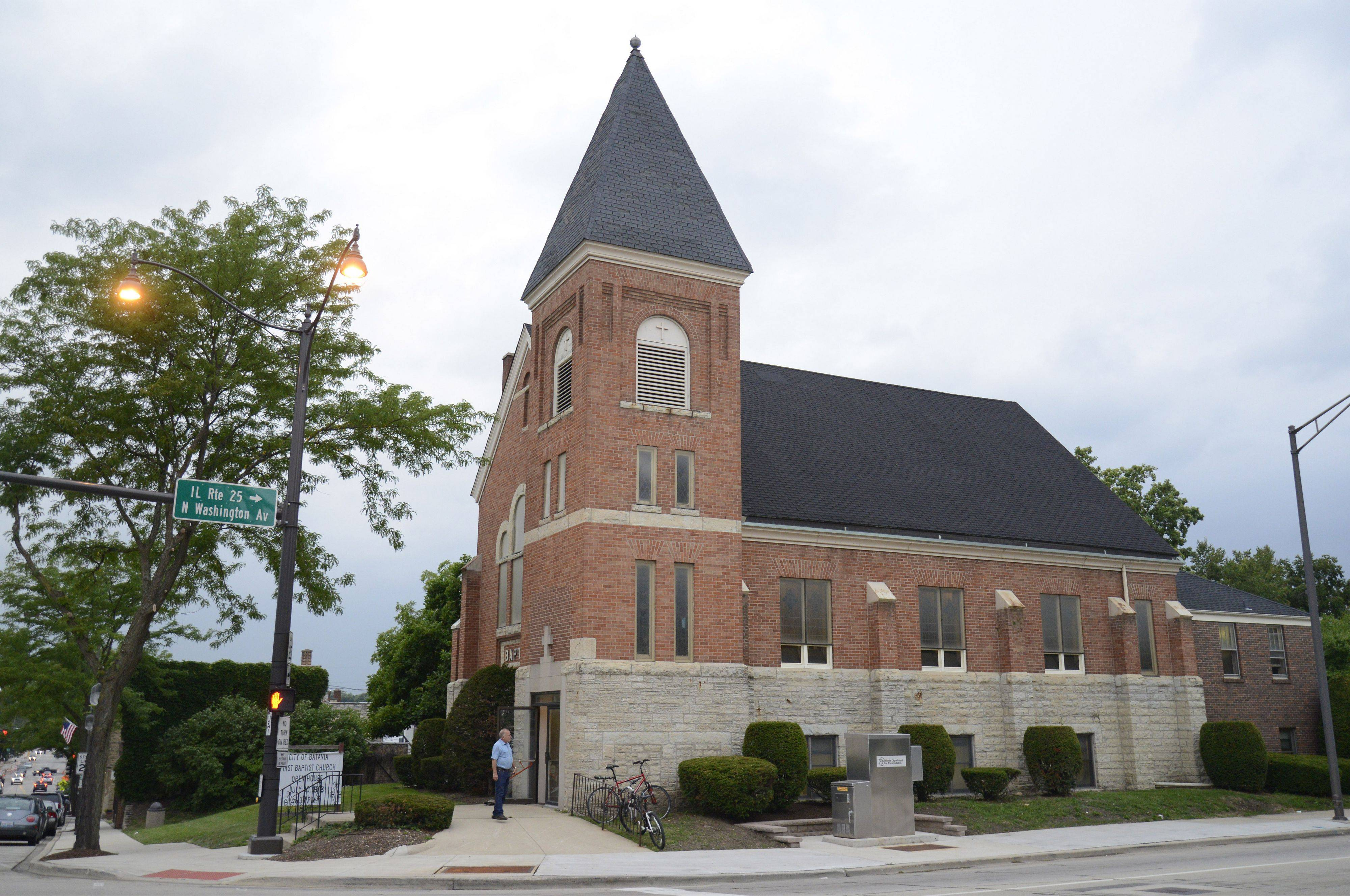 Members of the public took self-guided tours of the First Baptist Church building at the intersection of Route 25 and Wilson Street in Batavia on Tuesday.