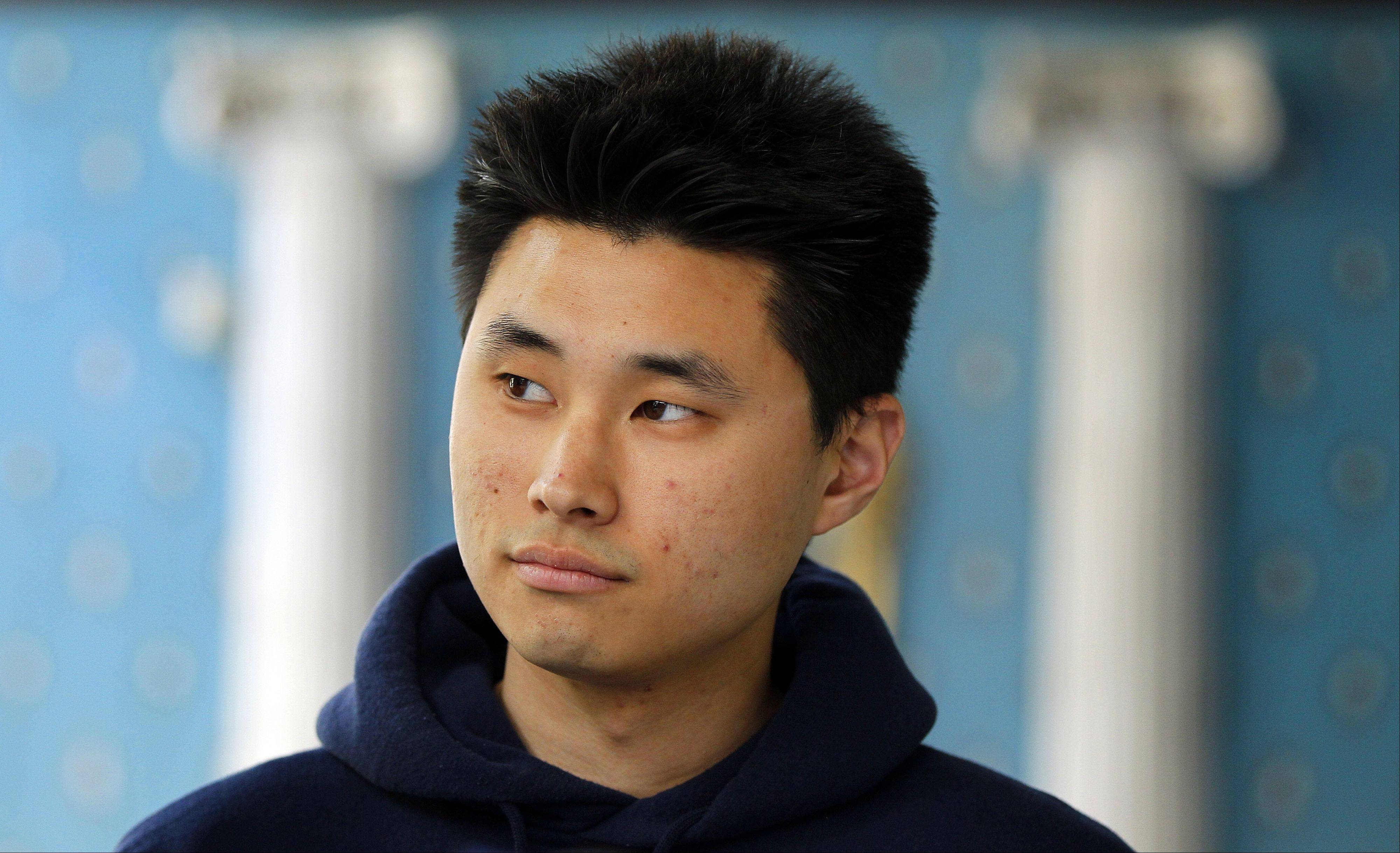 This May 1, 2012, file photo shows Daniel Chong at a news conference where he discussed his detention by the DEA in San Diego. The Justice Department will pay $4.1 million to Chong, who was left in a DEA holding cell for four days without food or water last year, two people familiar with the case told The AP on Tuesday.