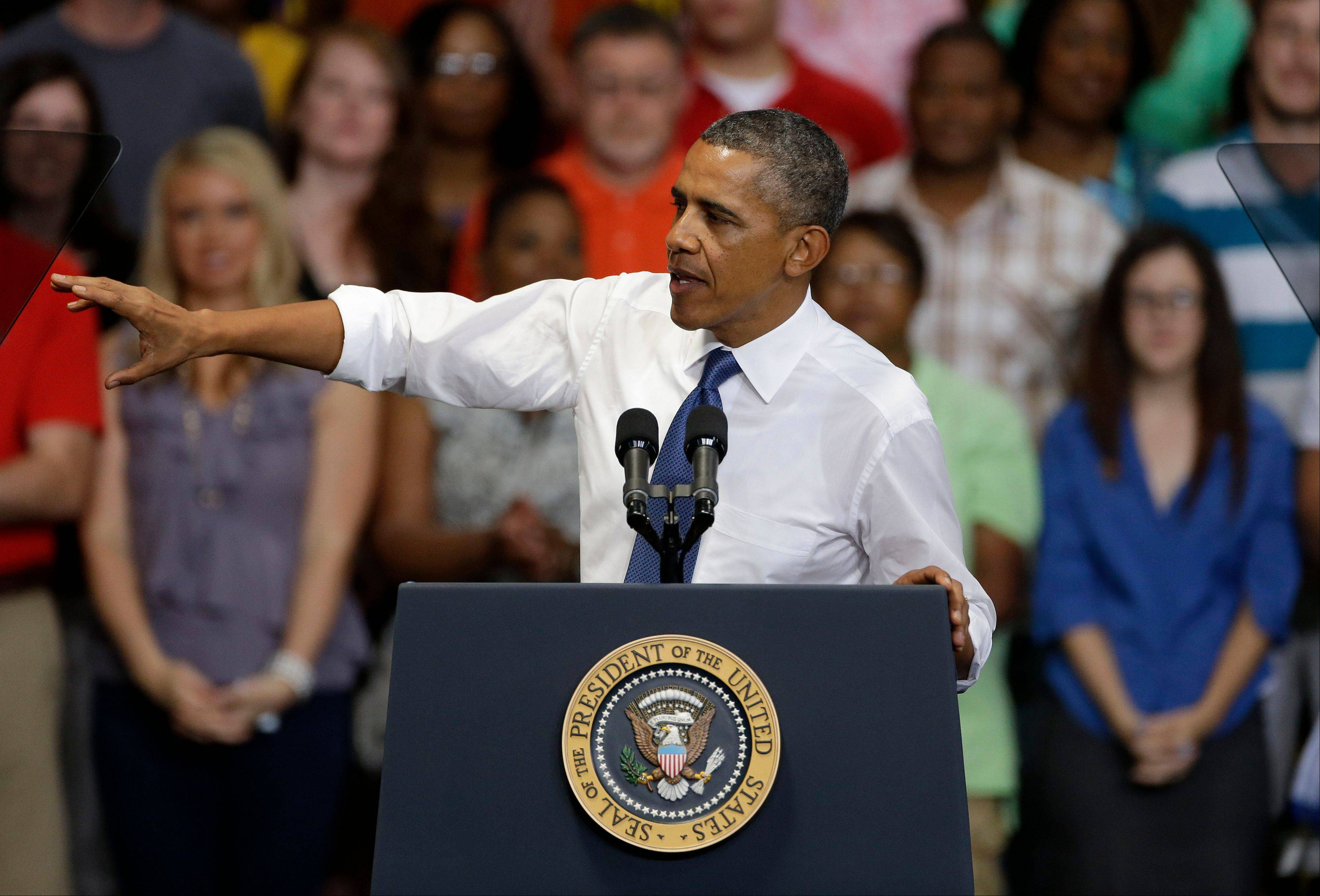 President Barack Obama, at an Amazon distribution center in Chattanooga, Tenn., Sunday, prodded Congress to consider fresh economic proposals after two years of gridlock.
