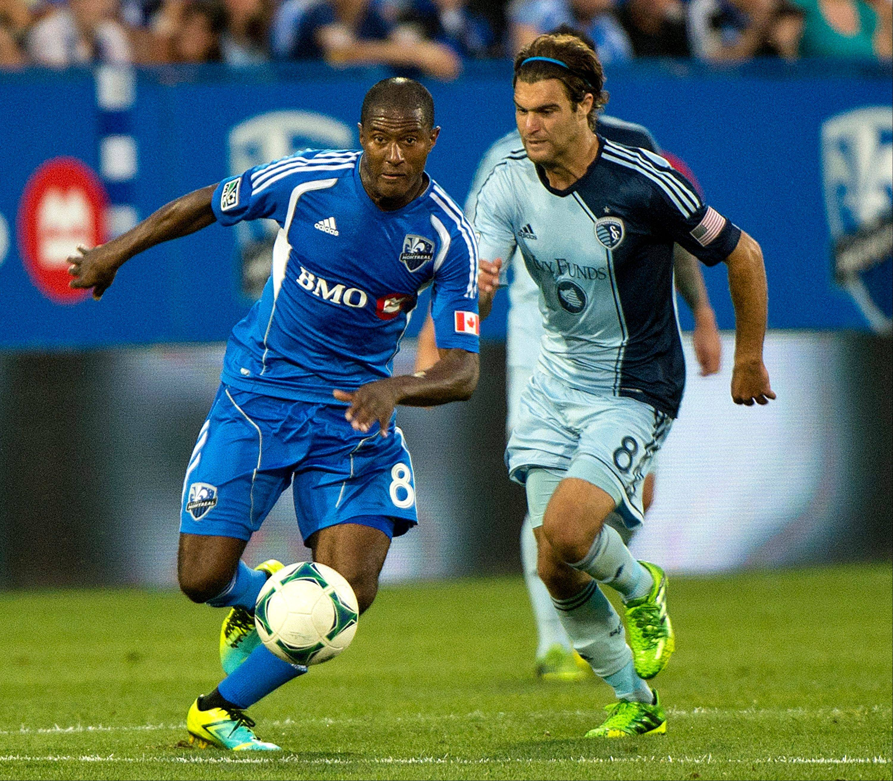 Sporting Kansas City's Graham Zusi, right, will be among the MLS all-stars to take on AS Roma on Wednesday in Kansas City.