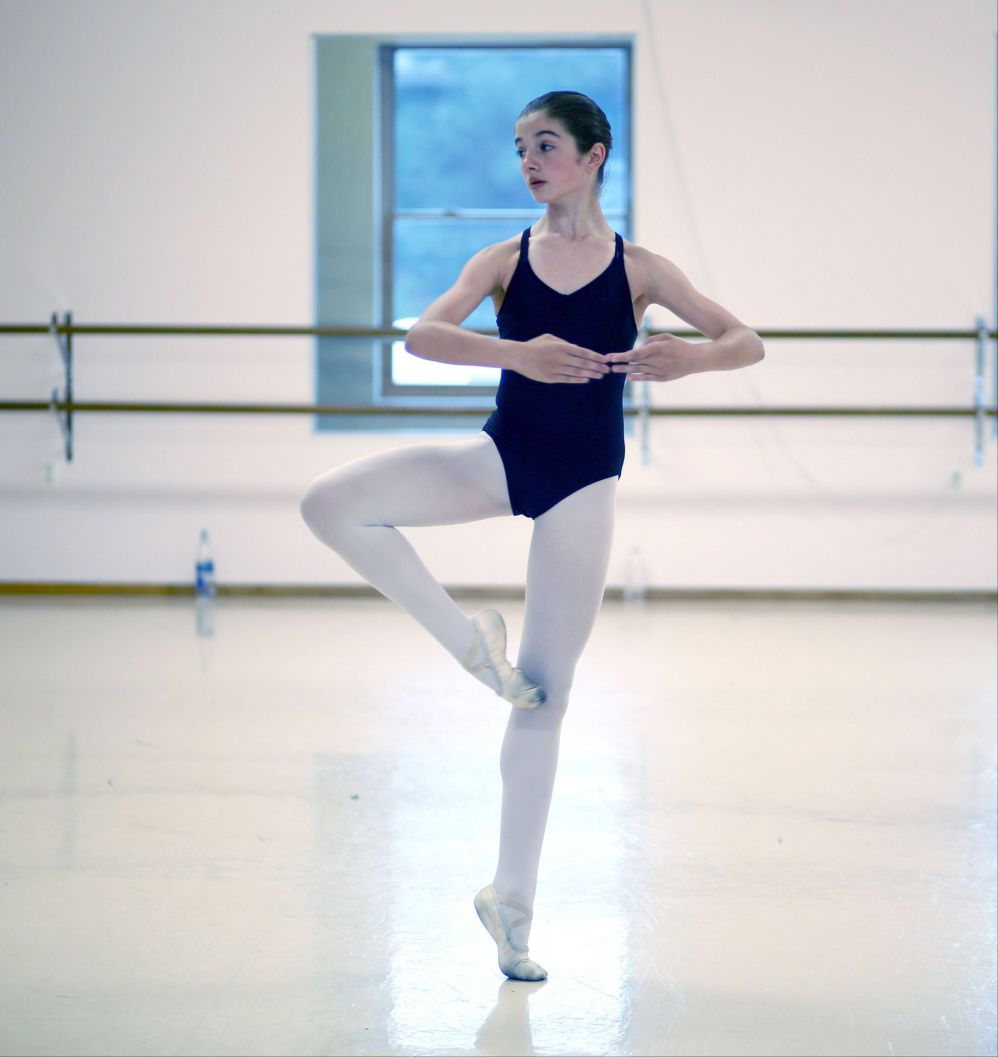 Emma Sidari, 11, of St. Charles will be attending an internship at Bolshoi Brazil this summer to study ballet.