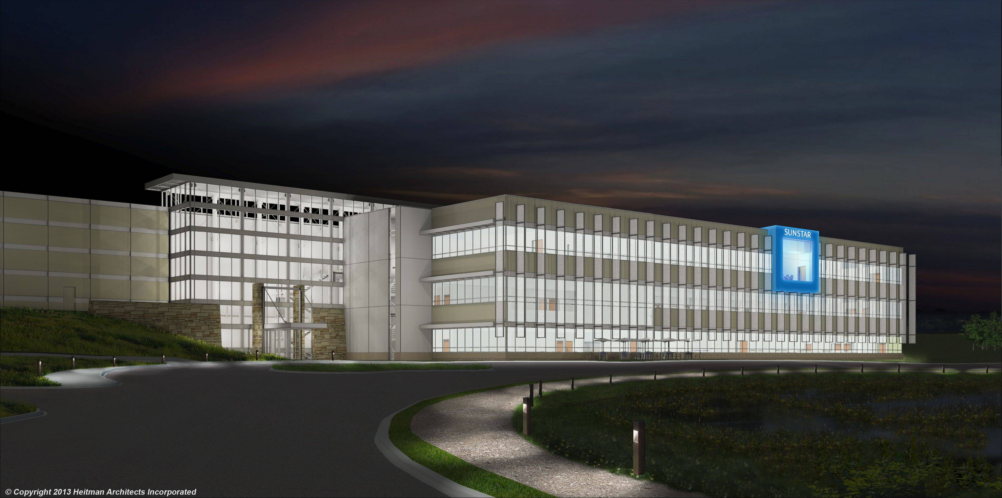 Sunstar Americas Inc.'s new 302,000-square-foot facility in Schaumburg is expected to bring 400 jobs to the village. The site sits north of the Jane Addams Tollway and east of Roselle Road.