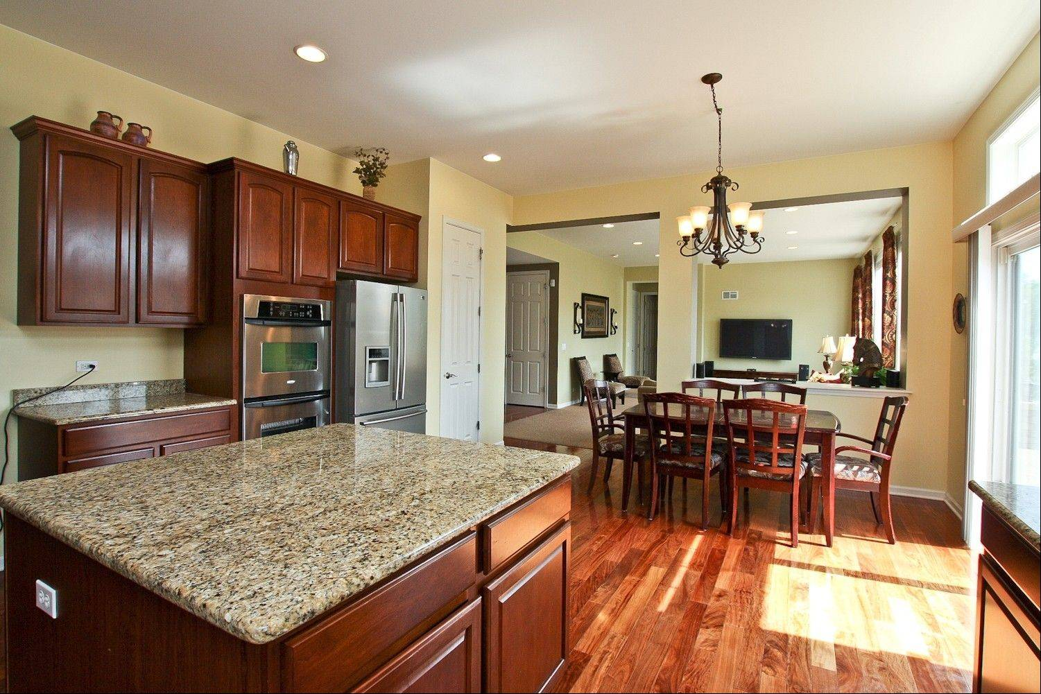 The large kitchen makes an instant impression.