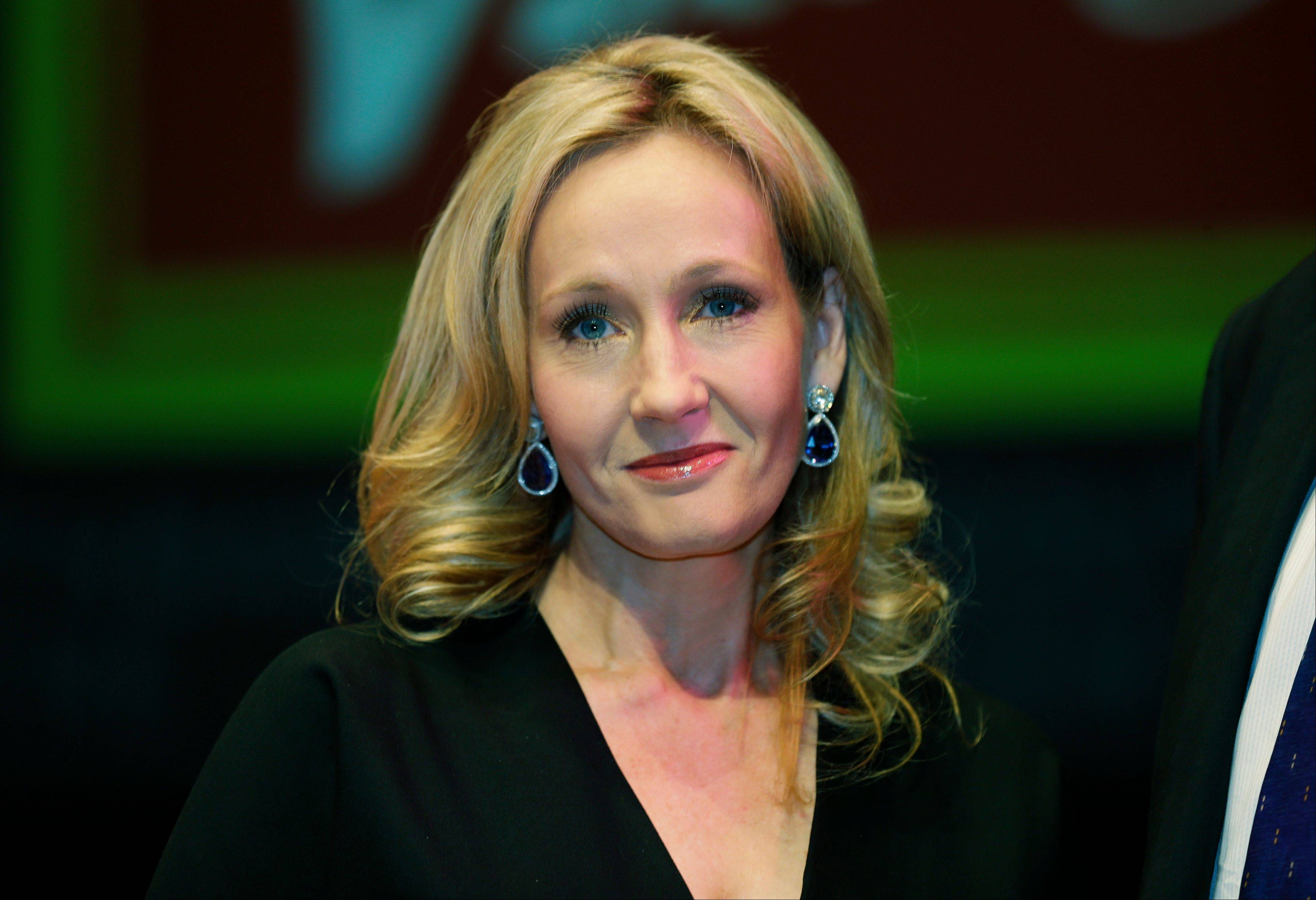 Author J.K. Rowling has accepted a charitable donation from a law firm that revealed she wrote a crime novel under a pseudonym. The Harry Potter author says her crime-writing alter ego, Robert Galbraith, had respectable sales before being exposed in the Sunday Times as a pseudonym.