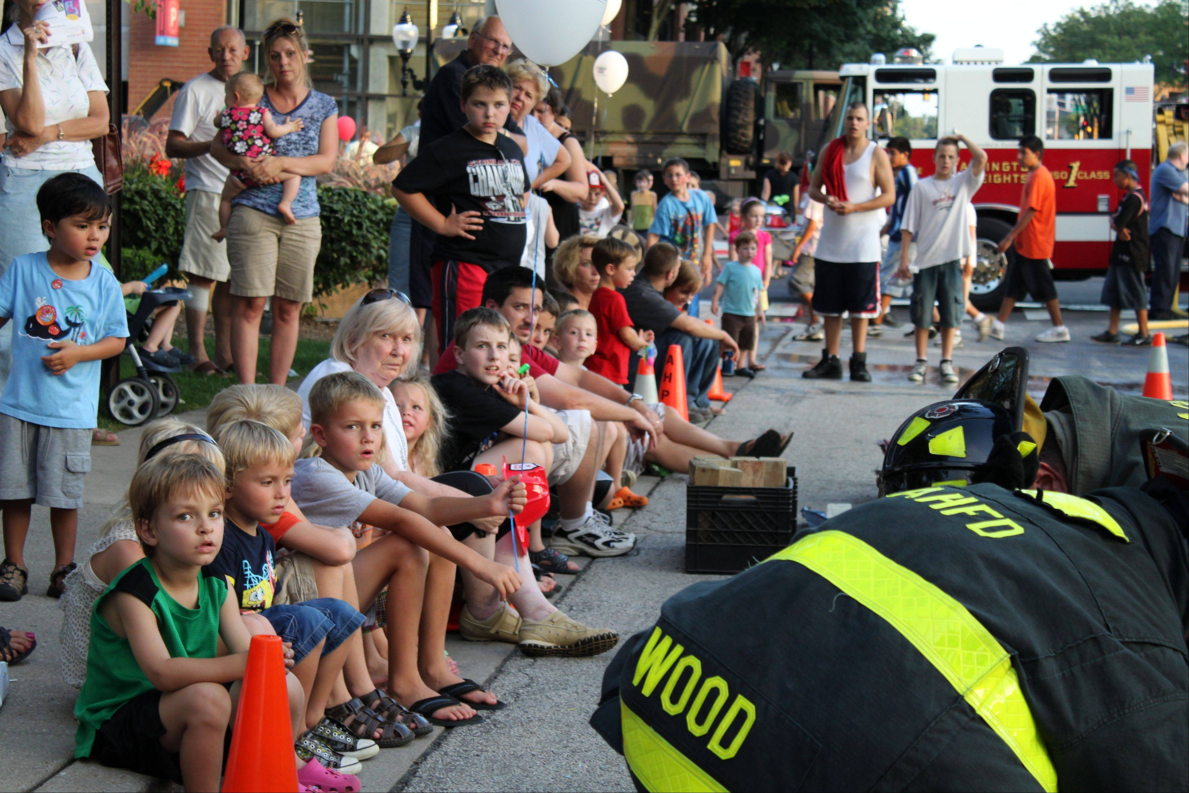 Arlington Heights residents celebrate National Night Out.