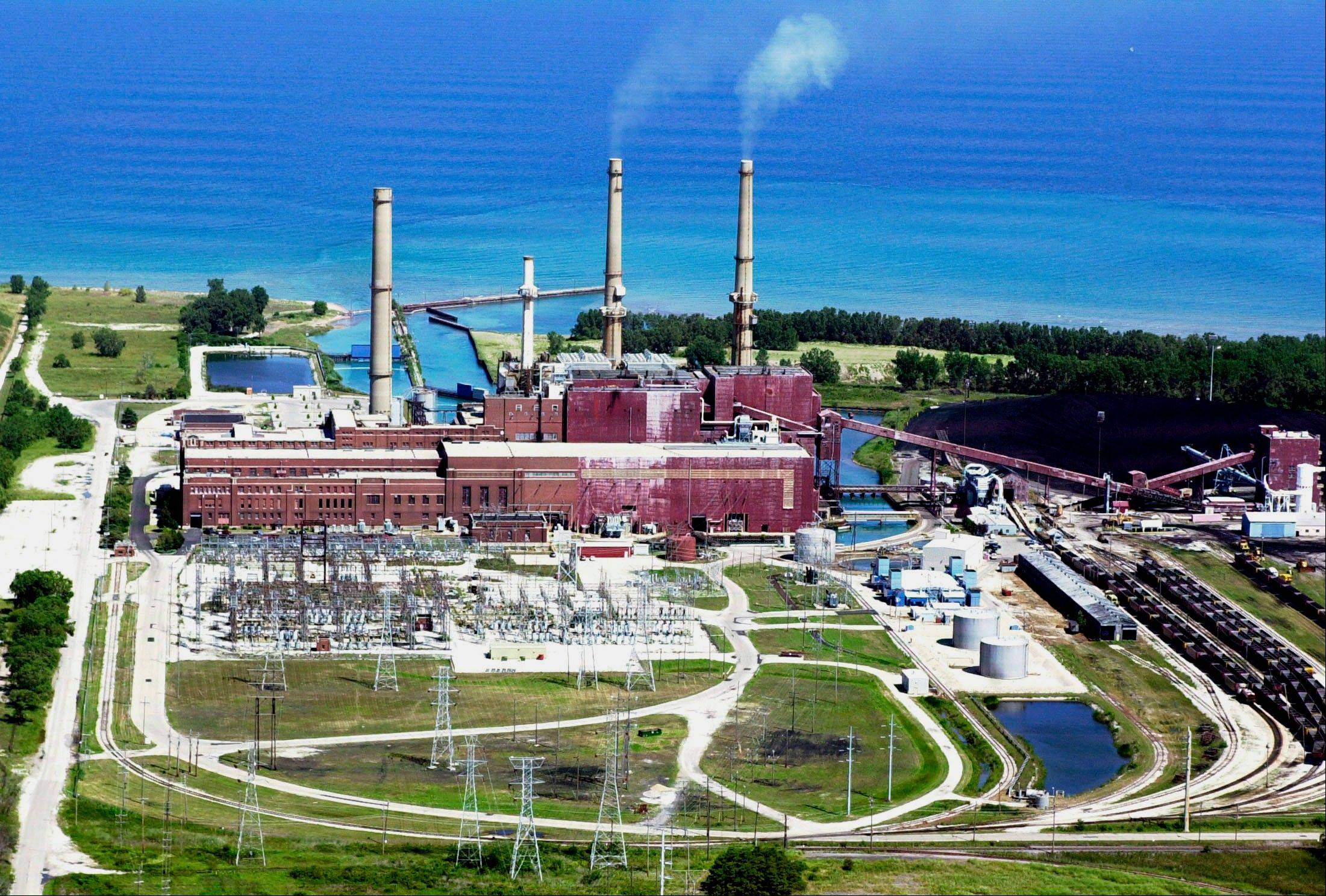 Midwest Generation�s Waukegan Generating Station, built in 1923, sits on the shore of Lake Michigan.