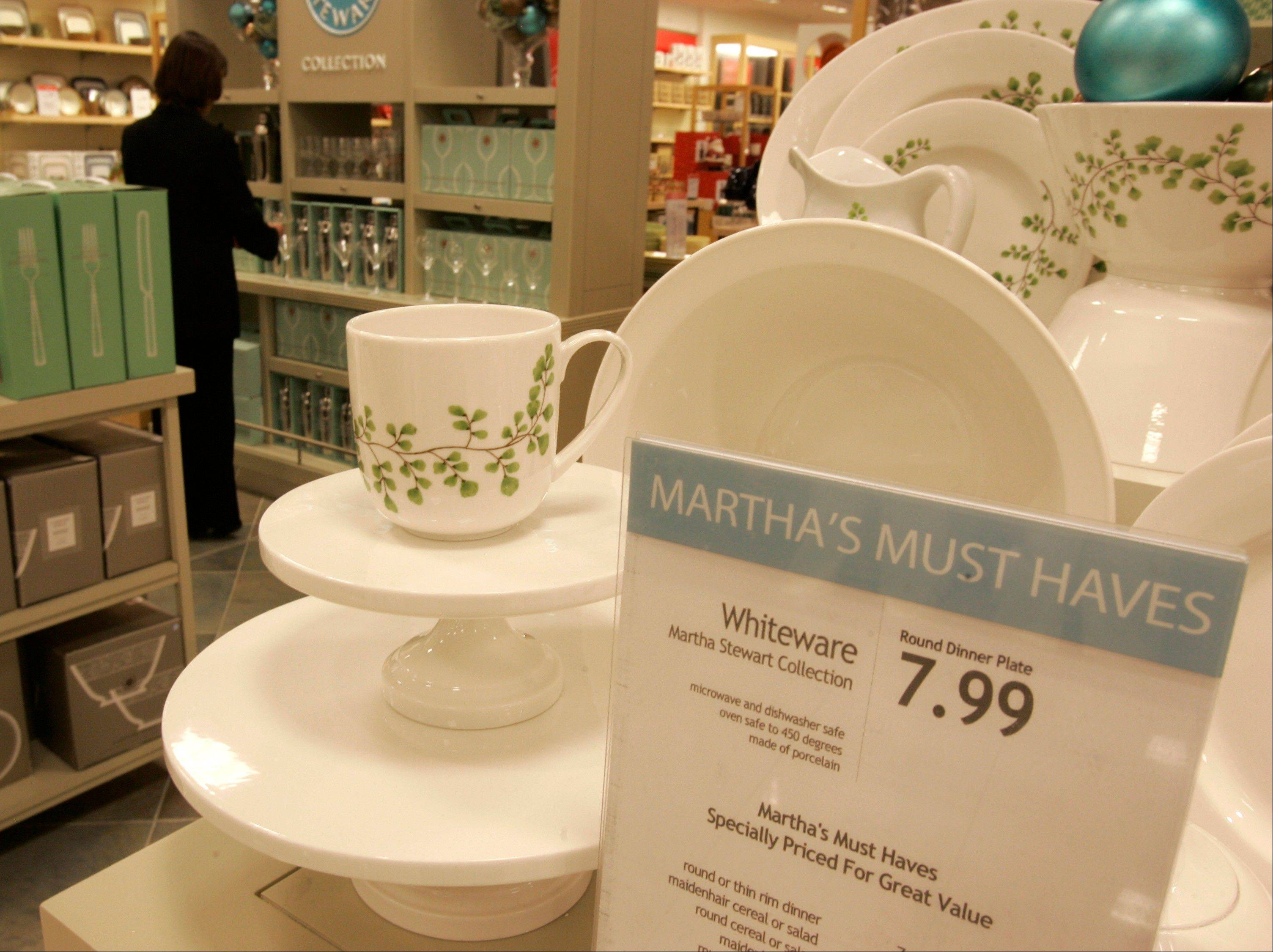 Martha Stewart products in the Macy's store at the Kenwood Towne Centre.