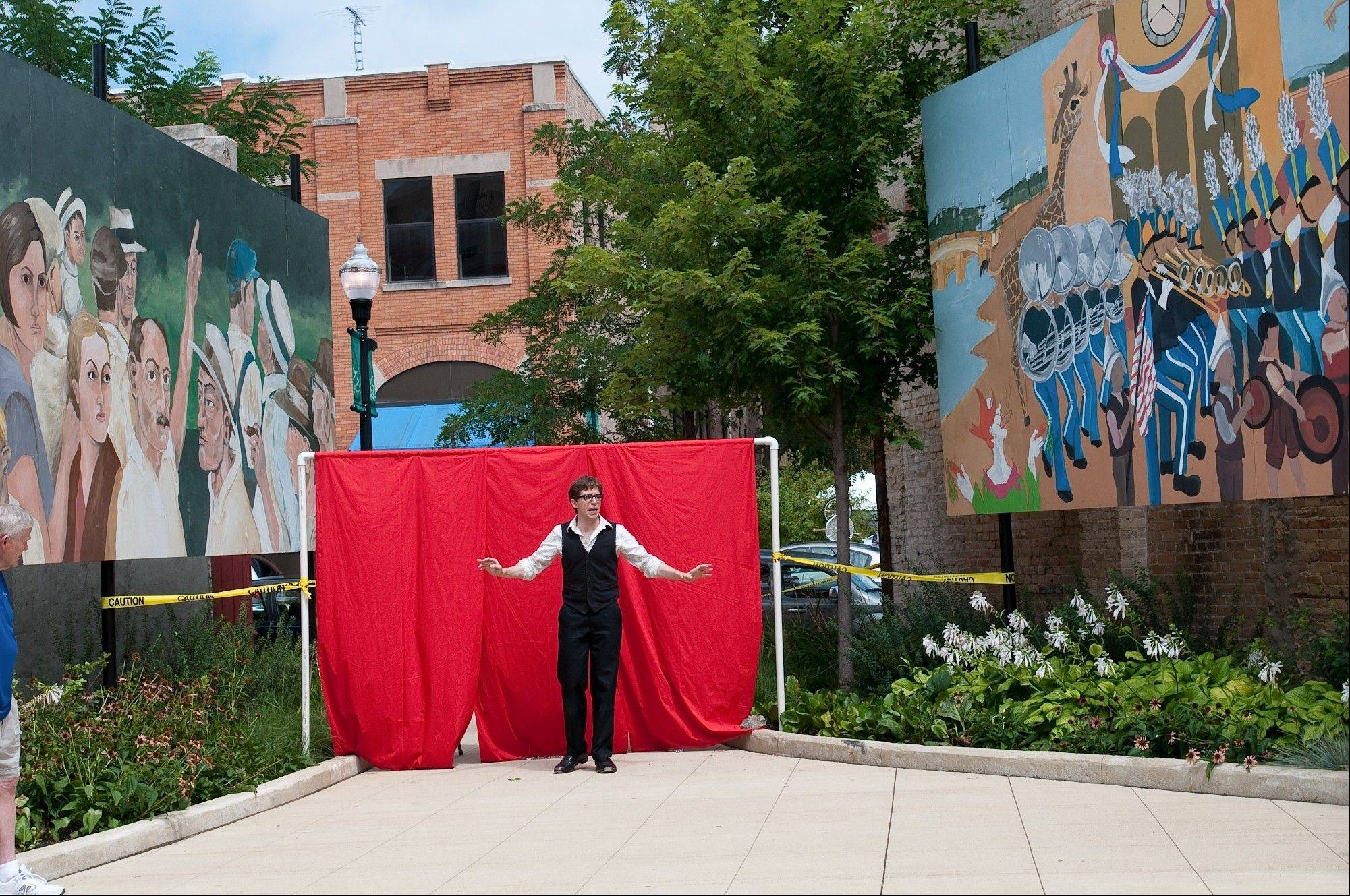 """Walkabout"" theatrical productions, here in 2011, use downtown Elgin as the backdrop or set."
