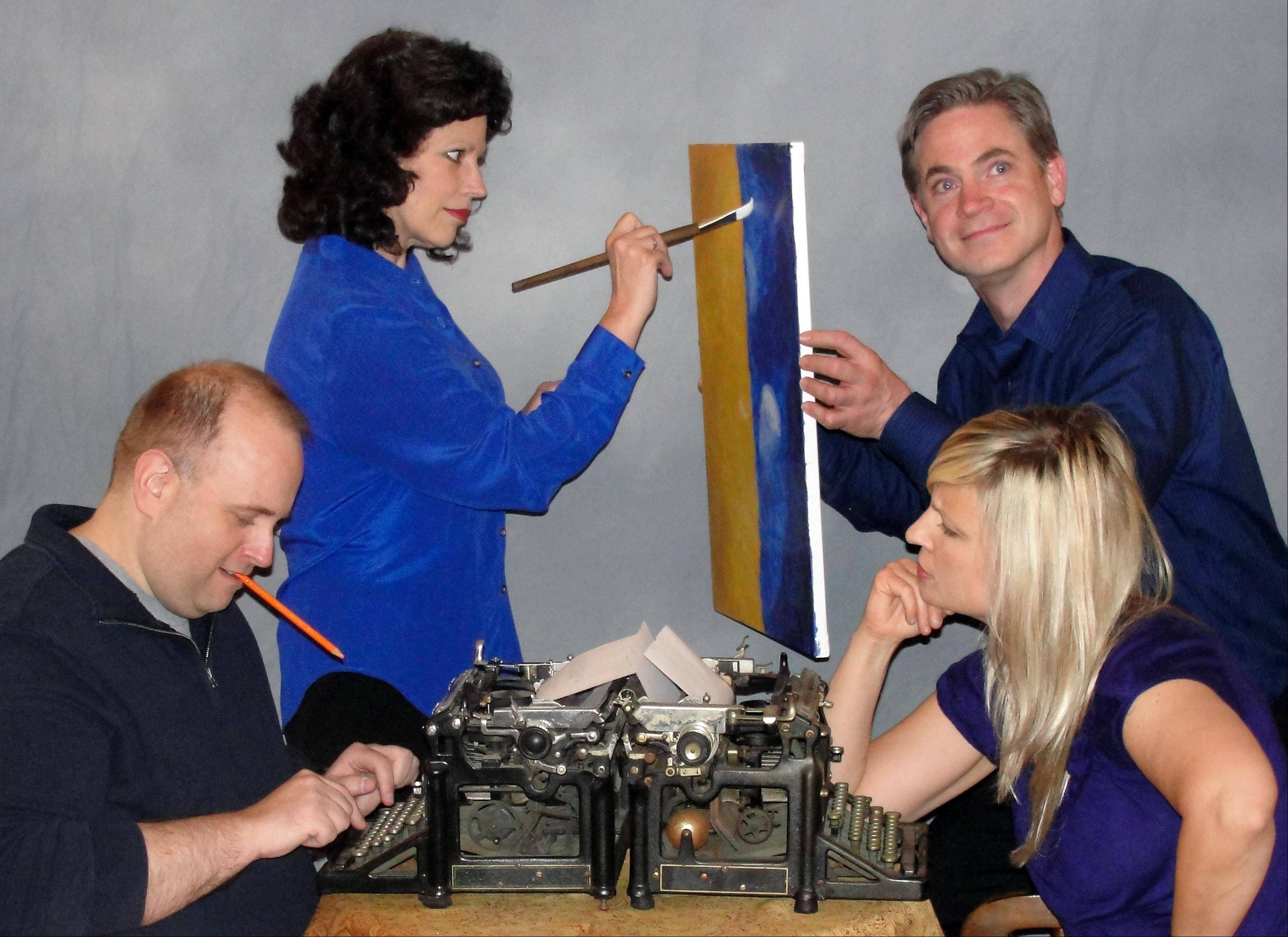 "Marc Jolley of South Elgin, left, Cheryl Rice of Elmhurst, Geoff Maher of Arlington Heights, and Debbi Dennison of Streamwood will perform in original short plays in Vex Theatre Company's production of ""Muse,"" part of the Art & Soul on the Fox."