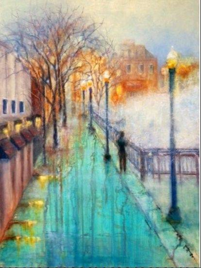 Work such as this oil pastel by Sally Sharp of Naperville will be featured at Art & Soul this weekend in Elgin.